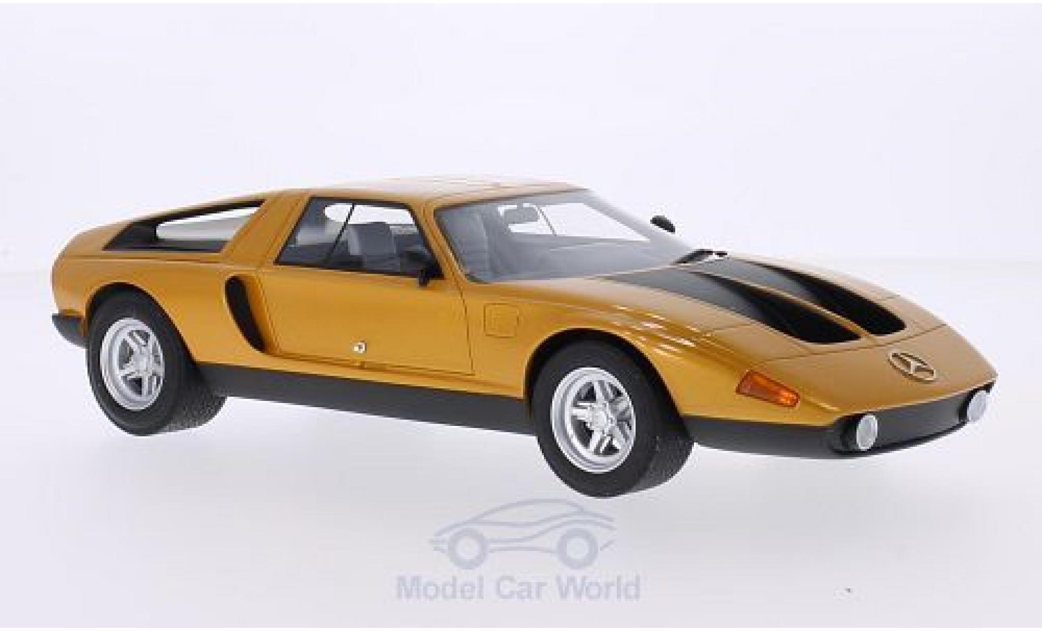 Mercedes C111 1/18 BoS Models -II métallisé orange/matt-noire 1970