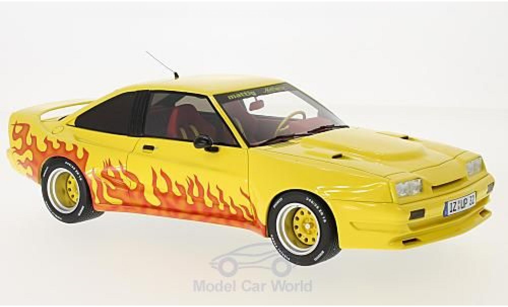 Opel Manta B 1/18 BoS Models Mattig jaune/Dekor 1991