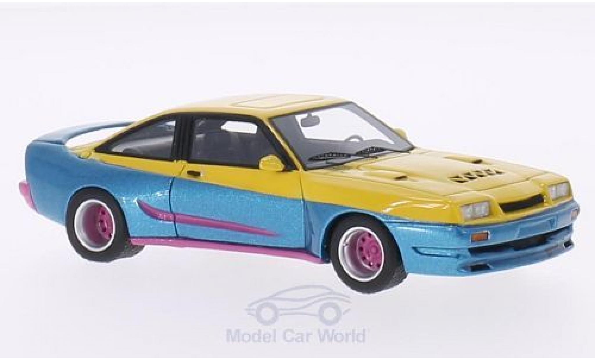 Opel Manta B 1/43 BoS Models Mattig metallise jaune/metallise bleue 1991