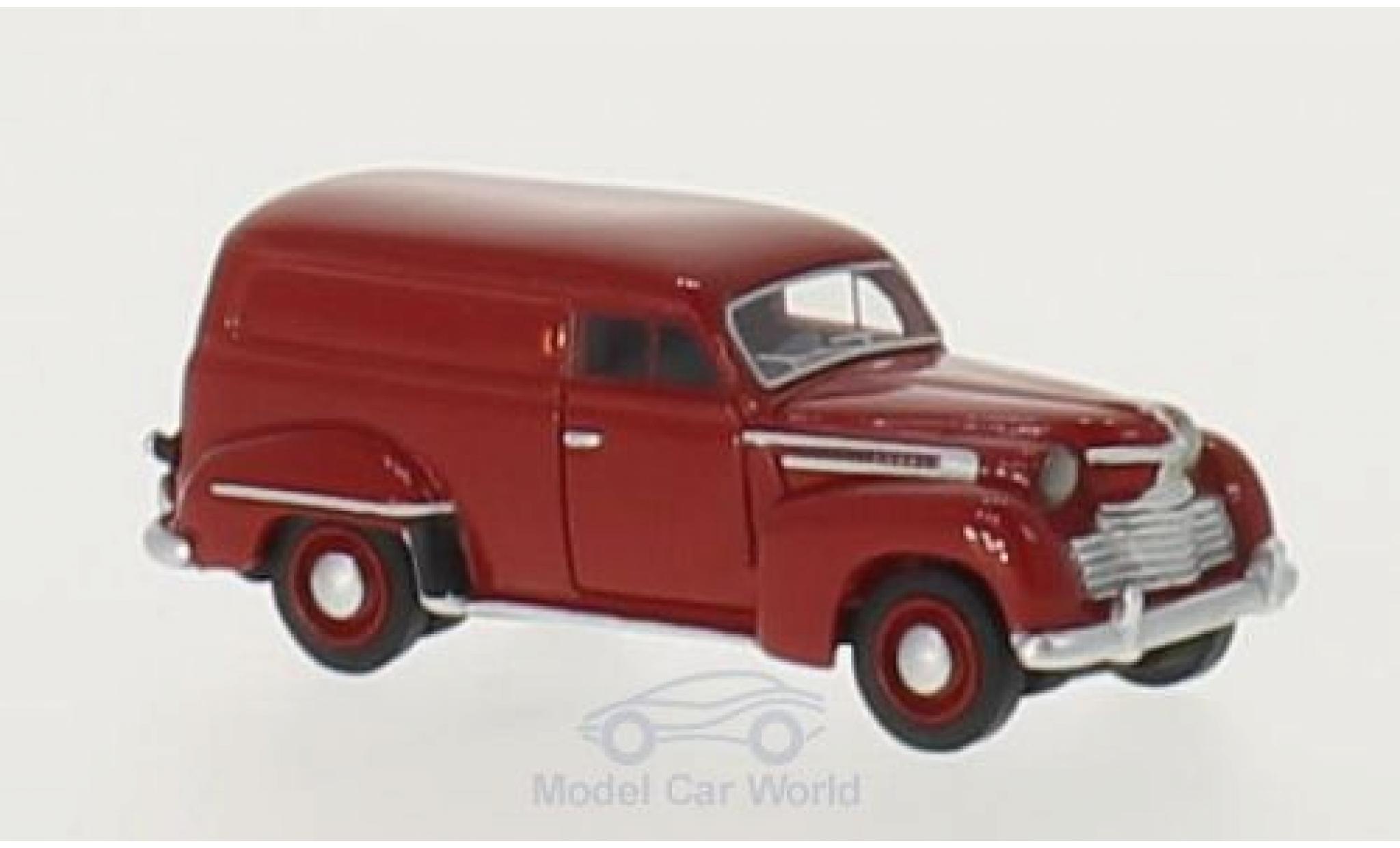 Opel Olympia 1/87 BoS Models Kastenwagen rouge 1951