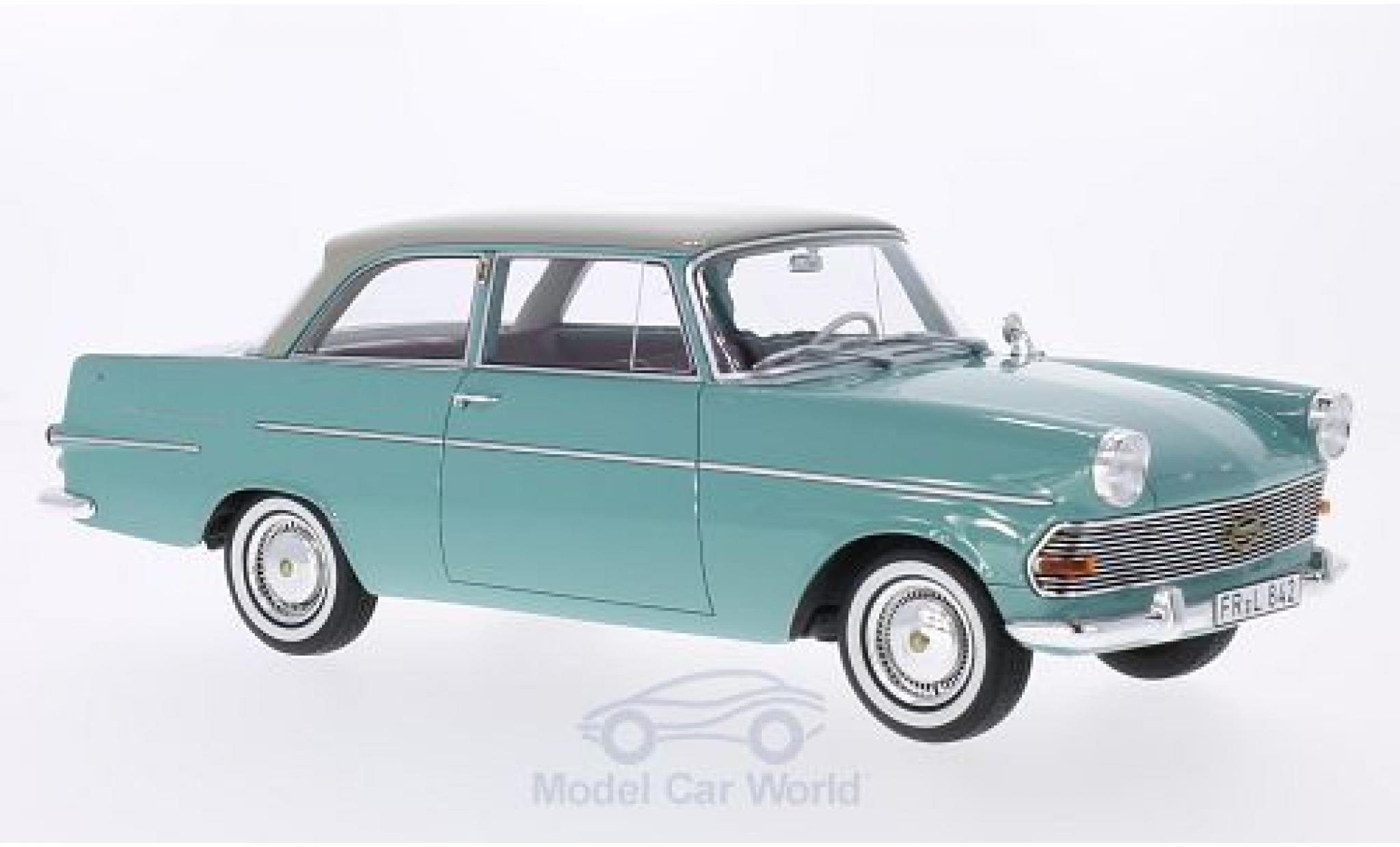 Opel Rekord 1/18 BoS Models P2 verte/grise 1961