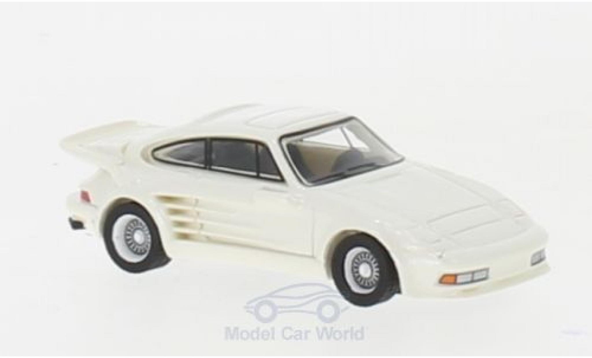 Porsche 930 Turbo 1/87 BoS Models 911 Gemballa Avalanche metallise blanche 1986