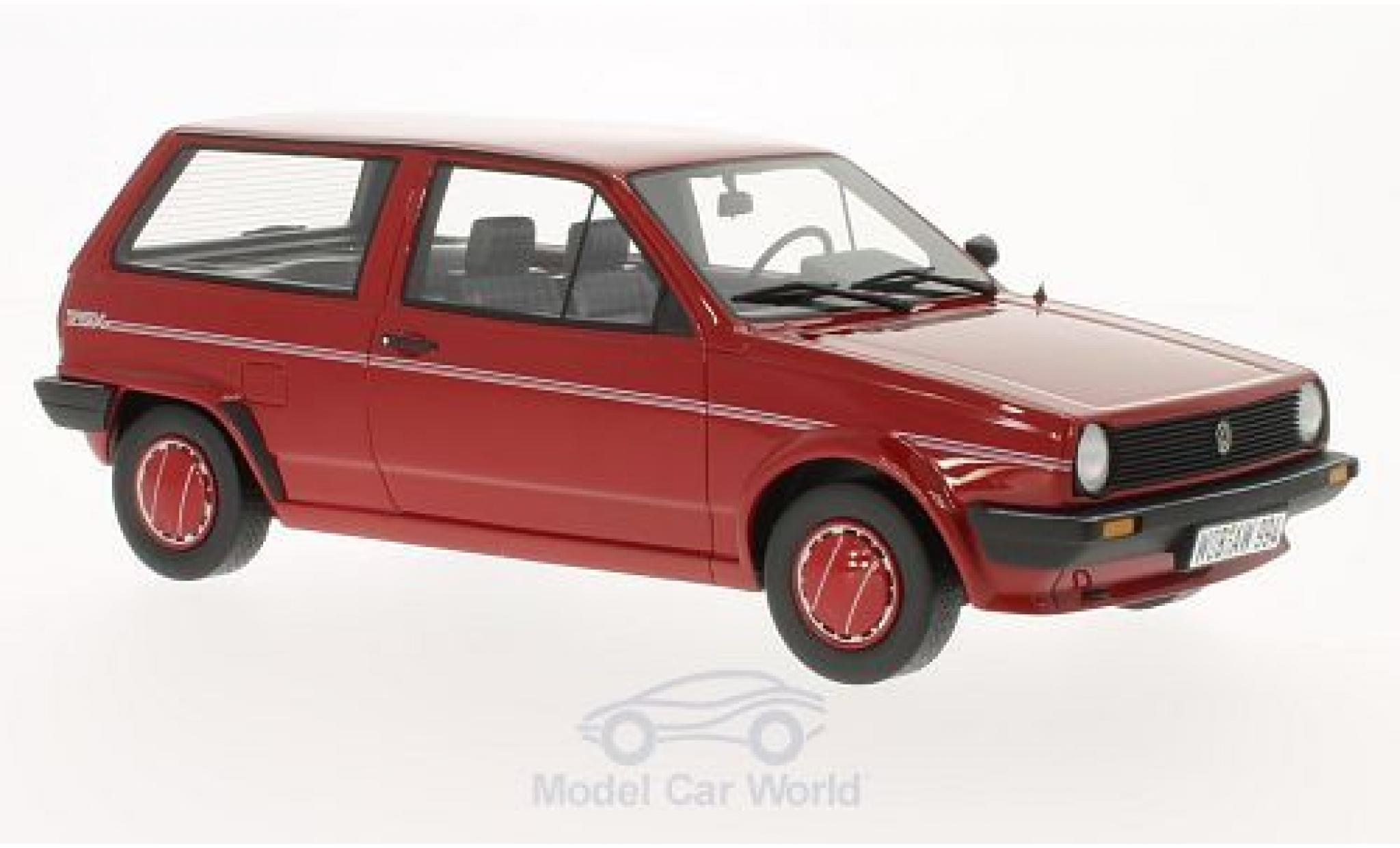 Volkswagen Polo 1/18 BoS Models II (Typ 86c) Steilheck Fox rosso 1986