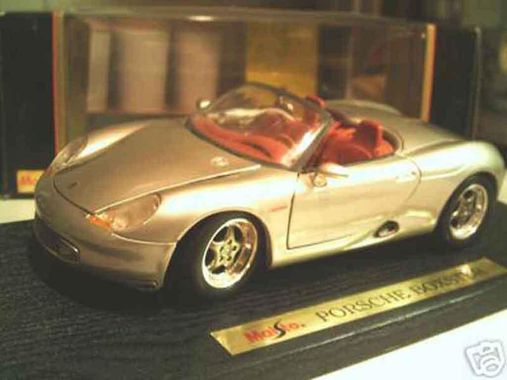 Porsche Boxster 1/18 Maisto grise miniature