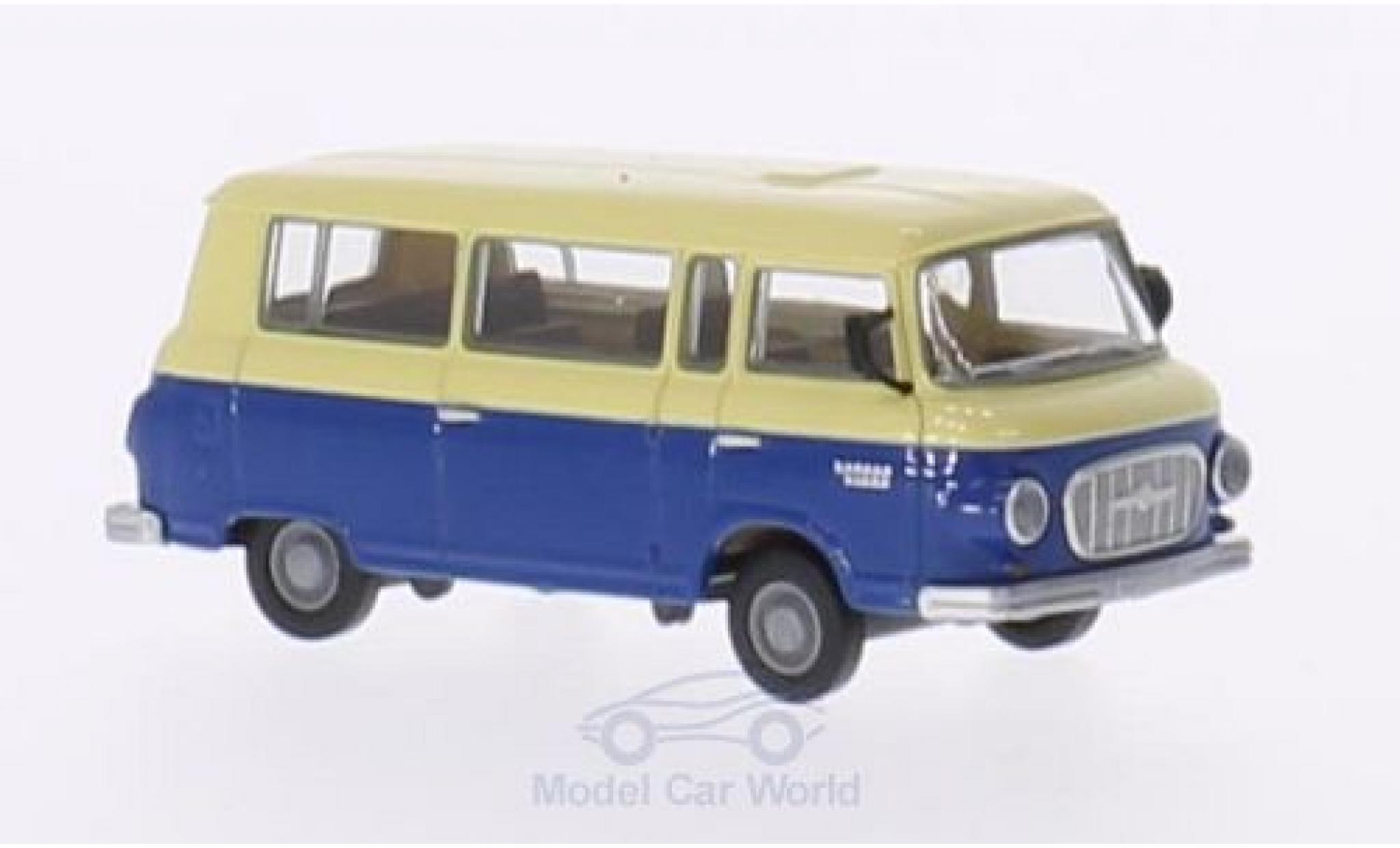 Barkas B 1000 1/87 Brekina beige/bleue Bus