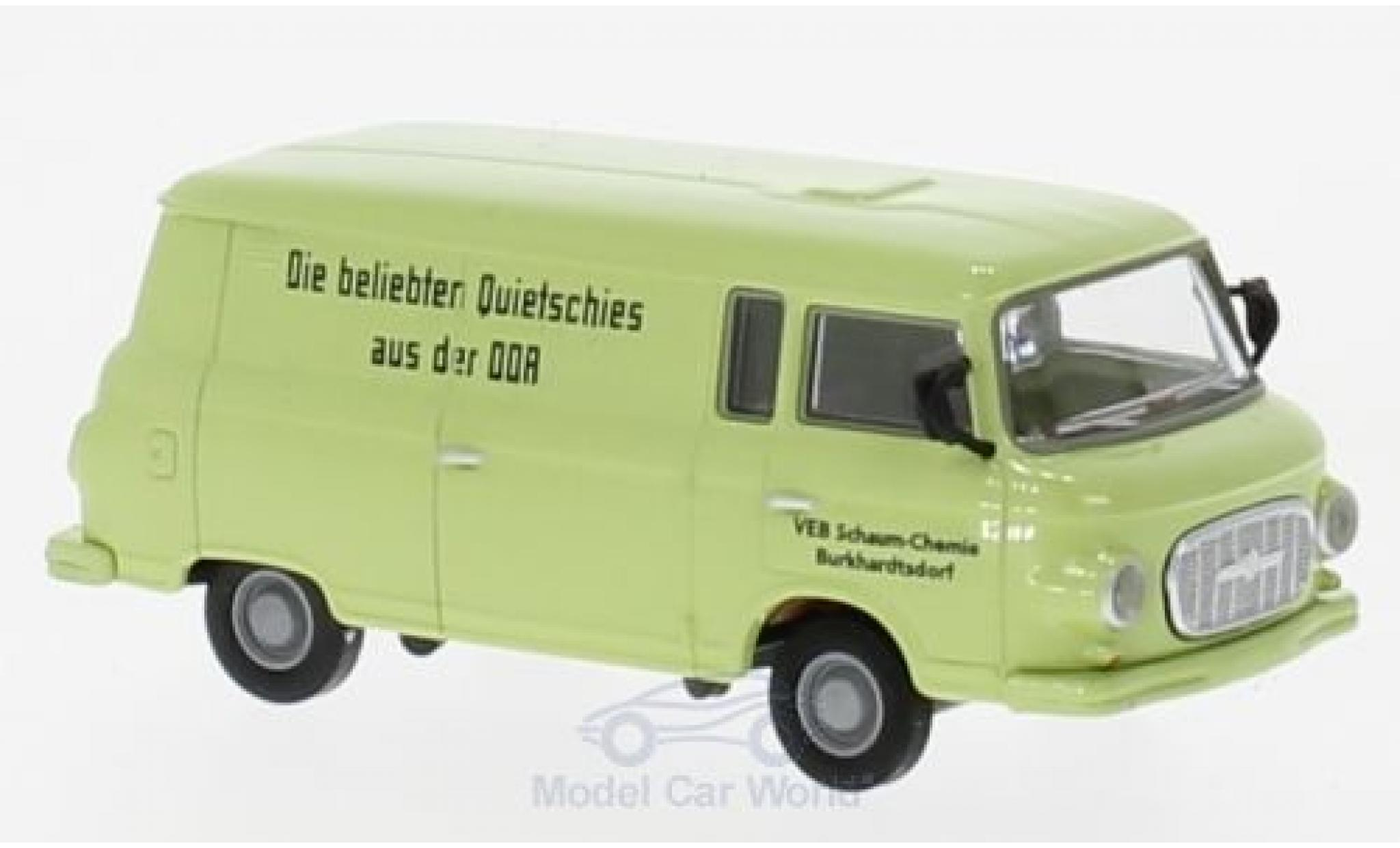 Barkas B1000 1/87 Brekina Kasten VEB Schaum-Chemie Burkhardtsdorf