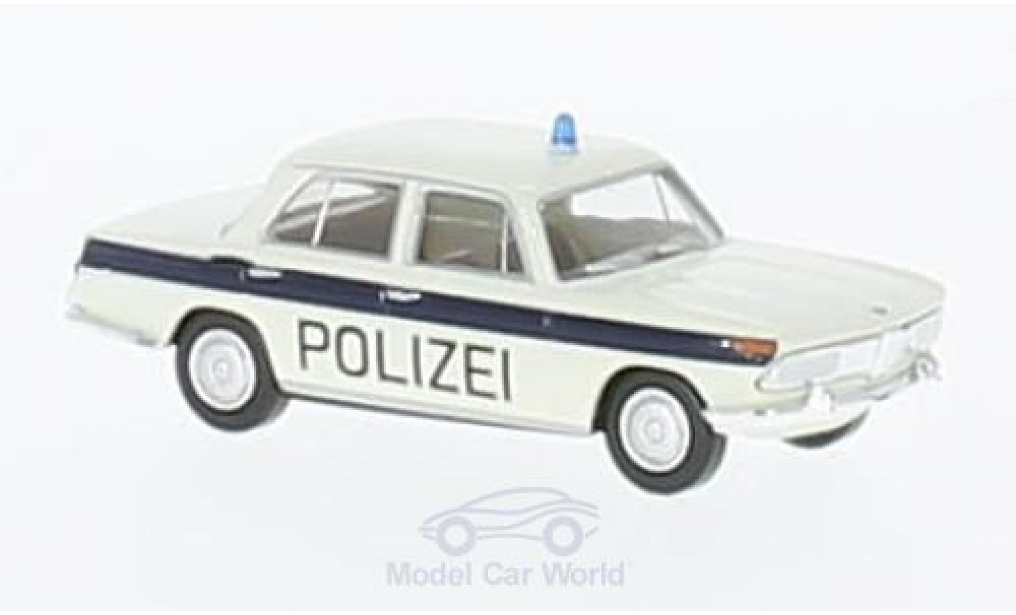 Bmw 2000 A 1/87 Brekina blanche/bleue Polizei Solothurn
