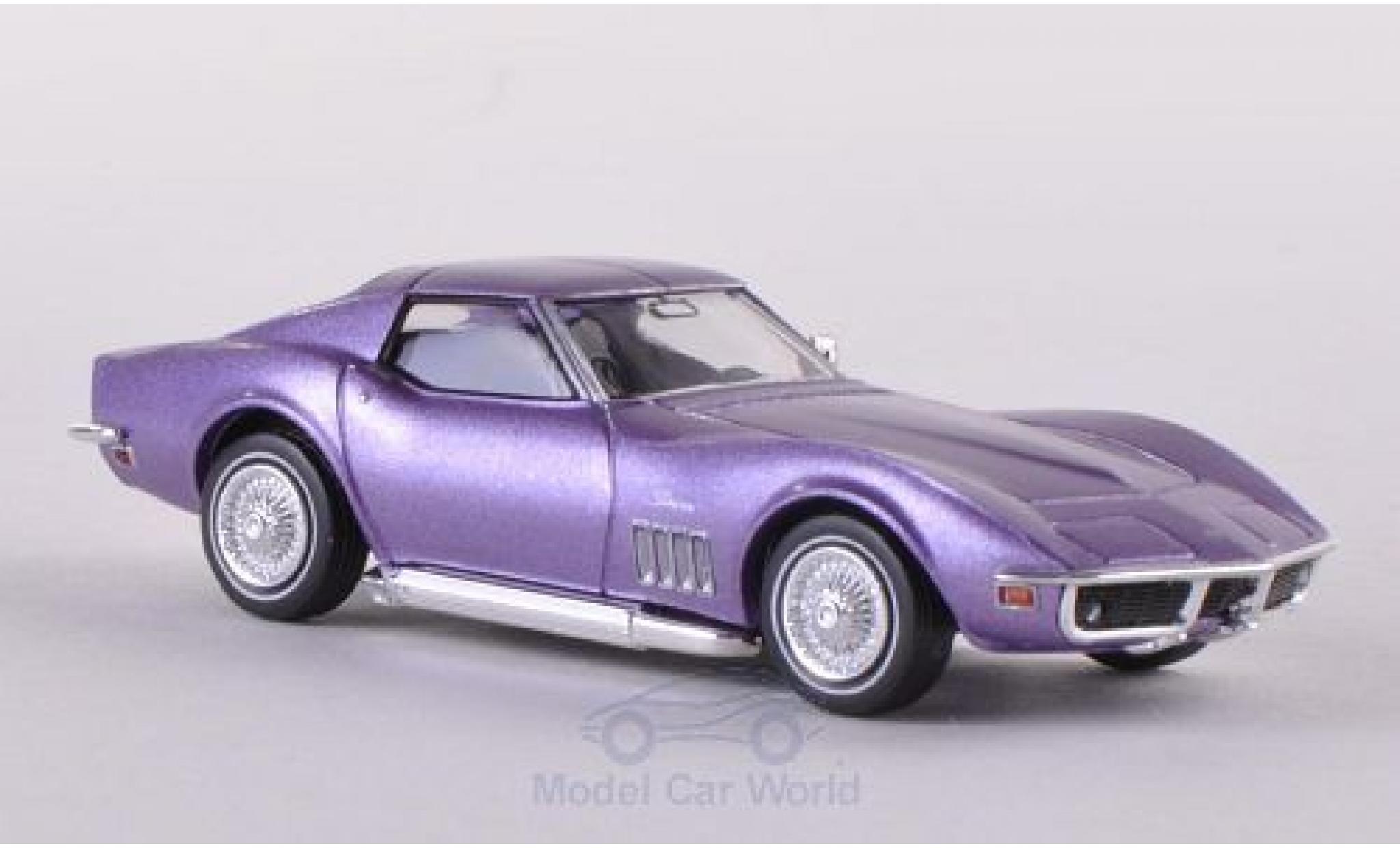 Chevrolet Corvette 1/87 Brekina (C3) metallise lila