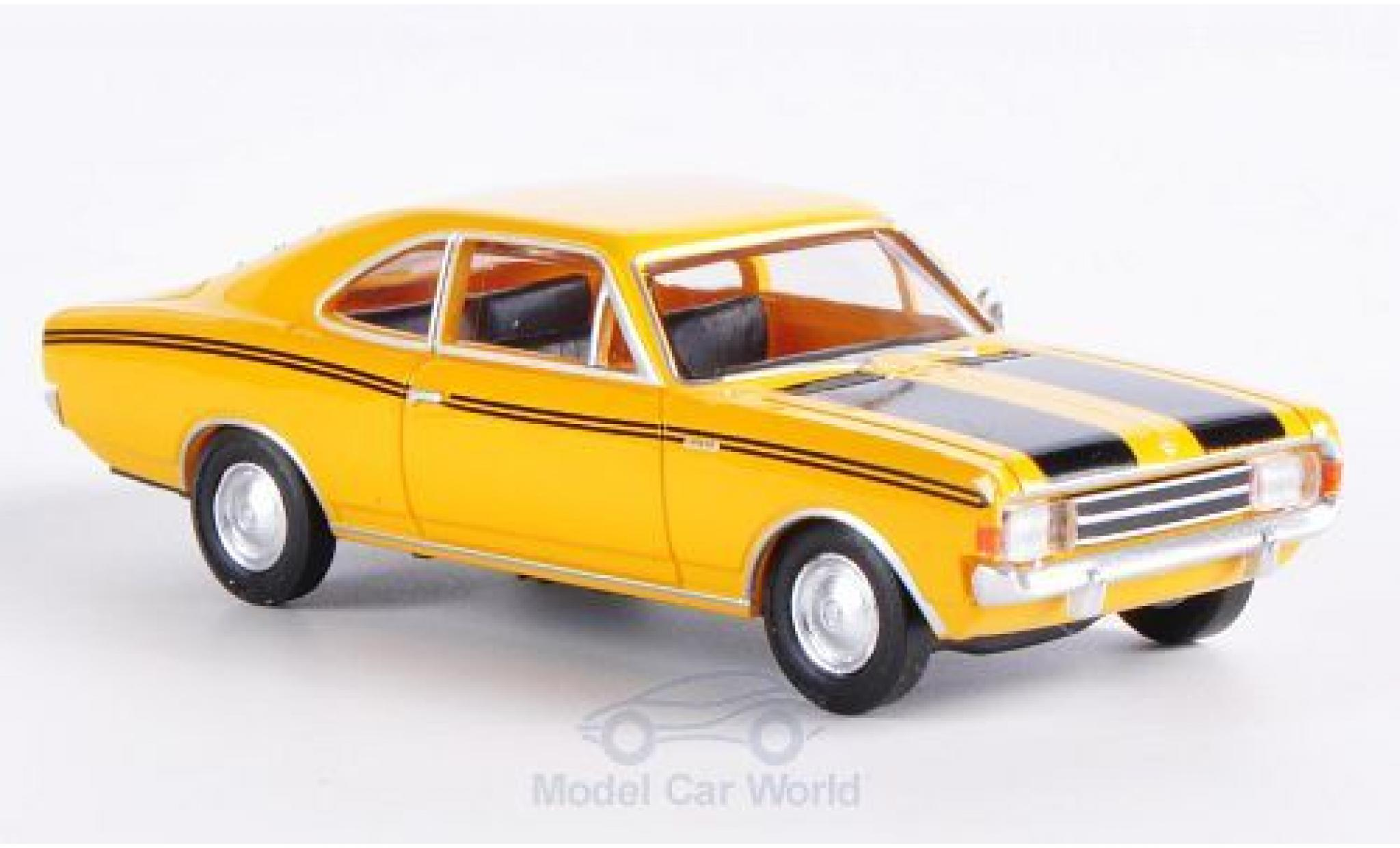 Opel Rekord 1/87 Brekina Drummer C Coupe jaune/noire