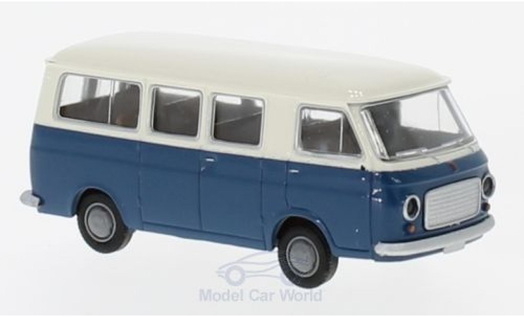 Fiat 238 1/87 Brekina Bus white/blue