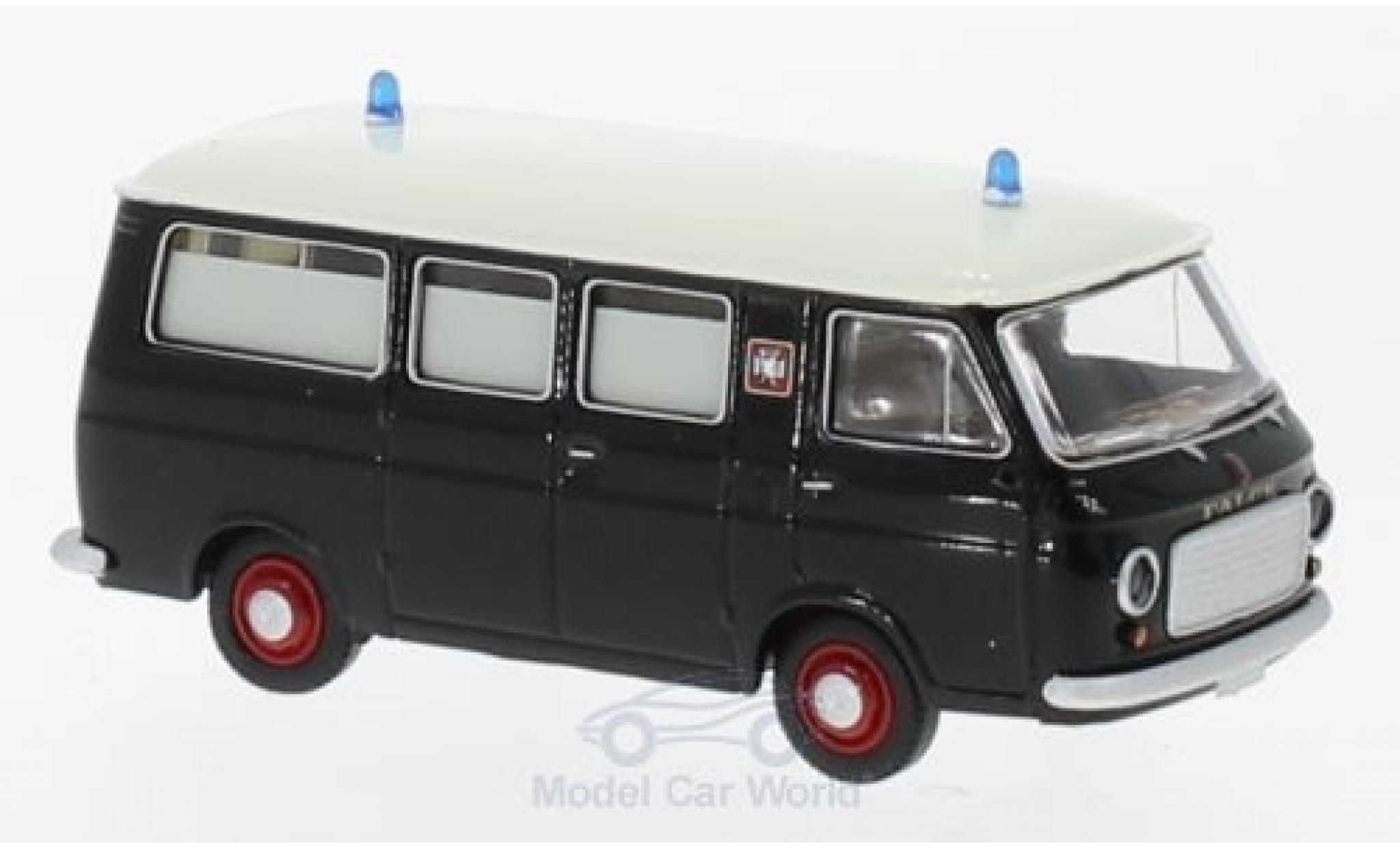 Fiat 238 1/87 Brekina black/white Falck Krankenwagen