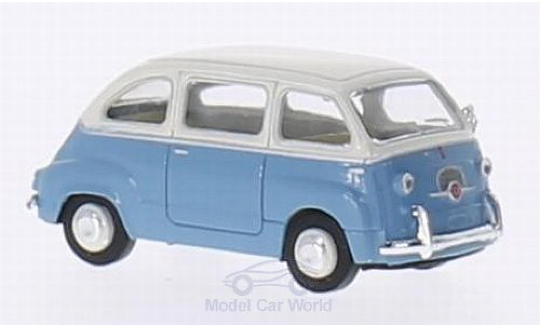 Fiat Multipla 1/87 Brekina bleue/blanche