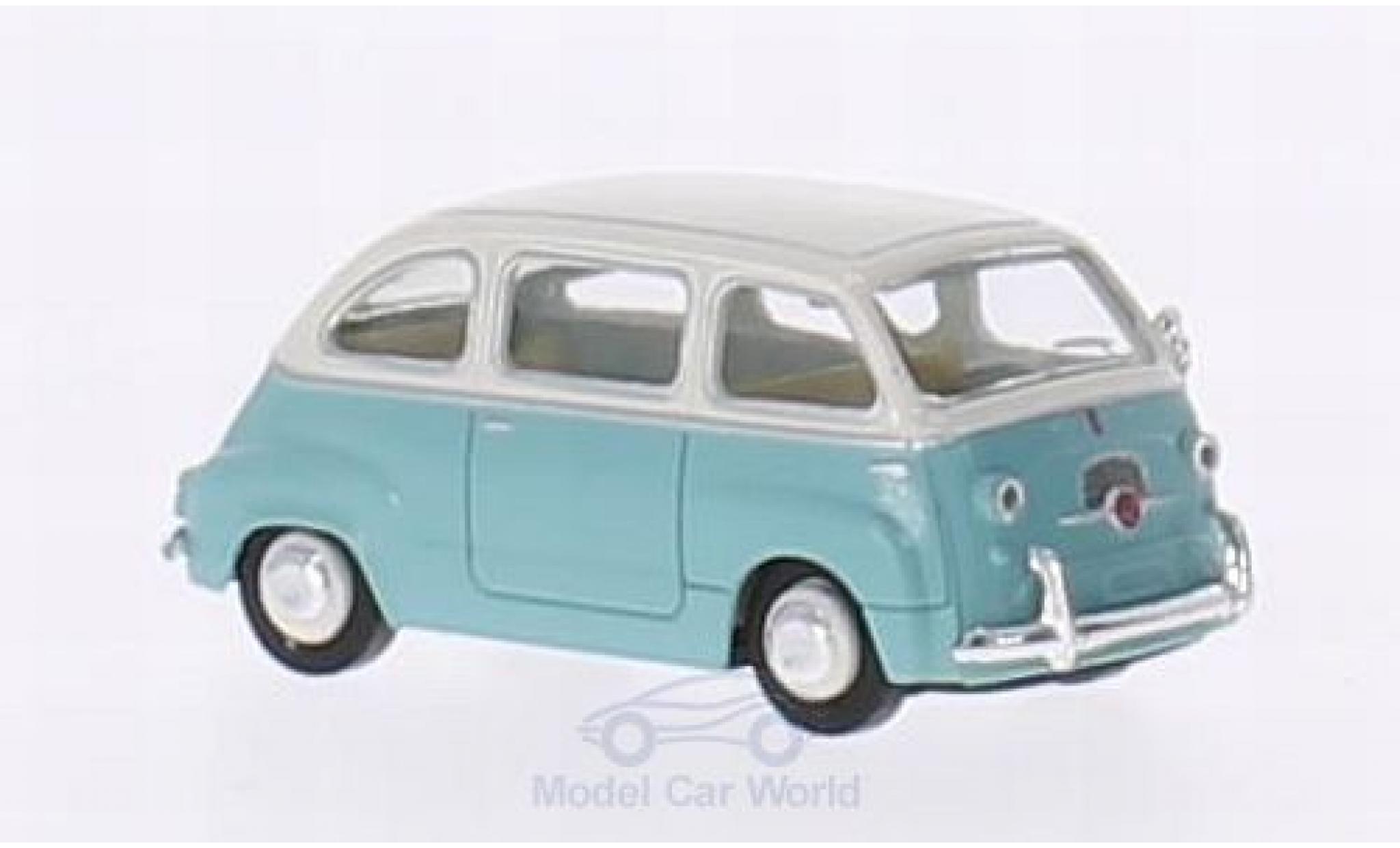 Fiat Multipla 1/87 Brekina turquoise/white