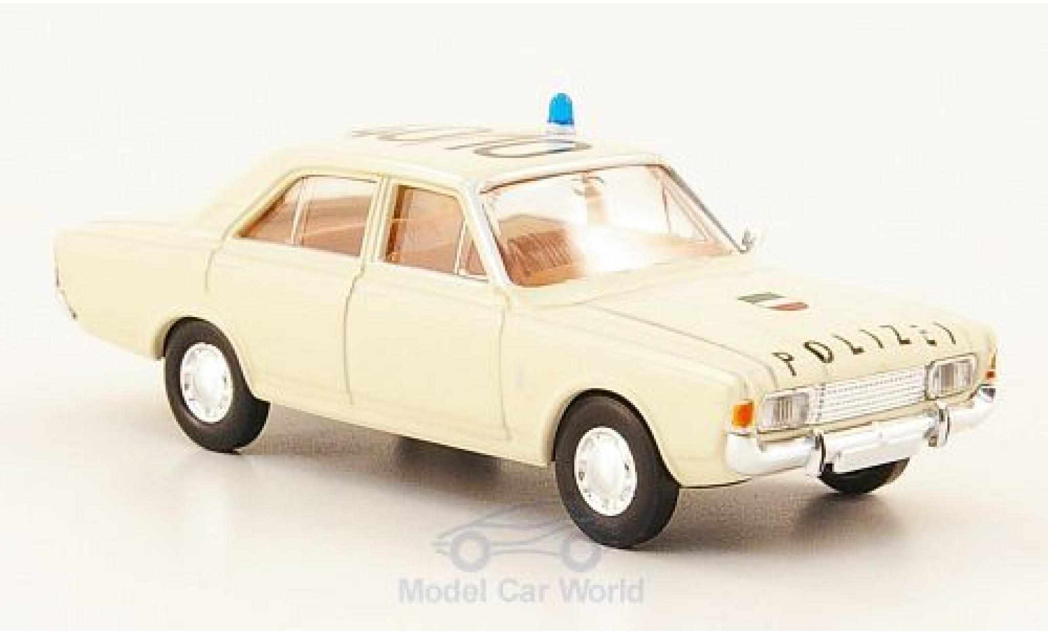 Ford 17M 1/87 Brekina 17m (P7b) Polizei Autobahnpolizei Köln