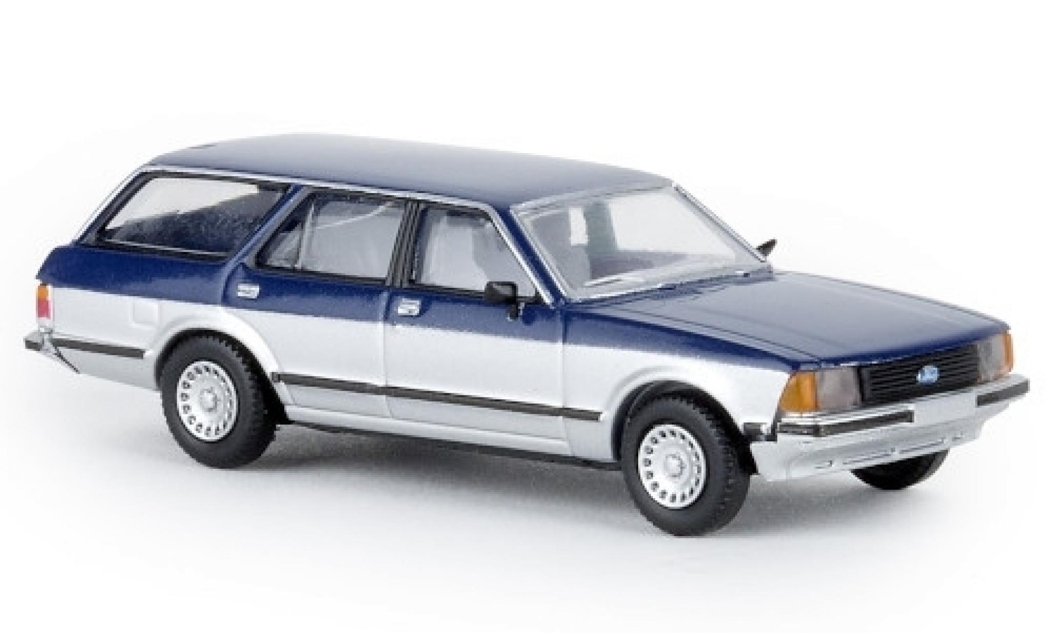 Ford Granada 1/87 Brekina II Turnier bleue/grise Sapphire 1977