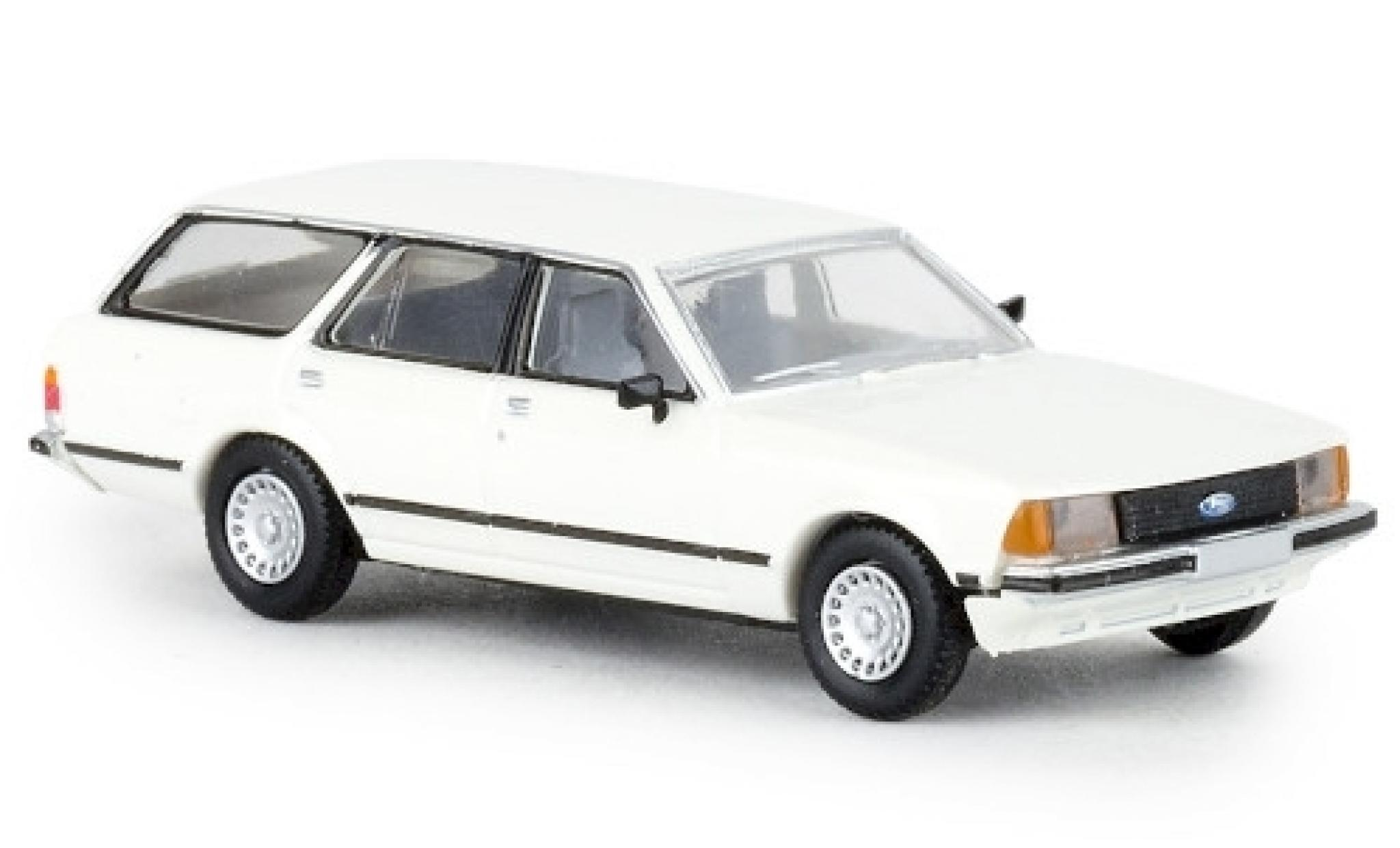 Ford Granada 1/87 Brekina II Turnier blanche 1977 TD