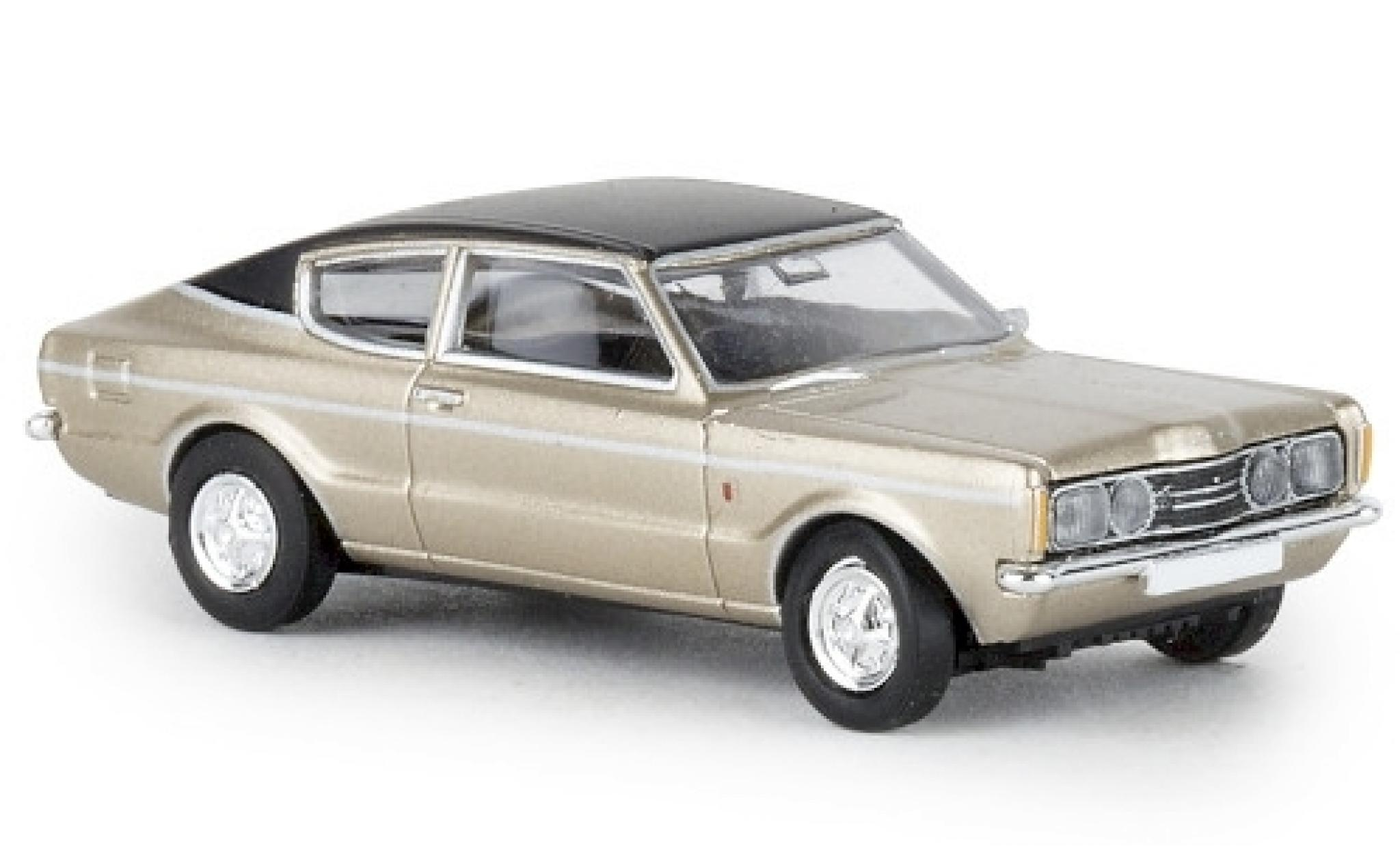 Ford Taunus 1/87 Brekina Coupe GXL gold/noire 1972