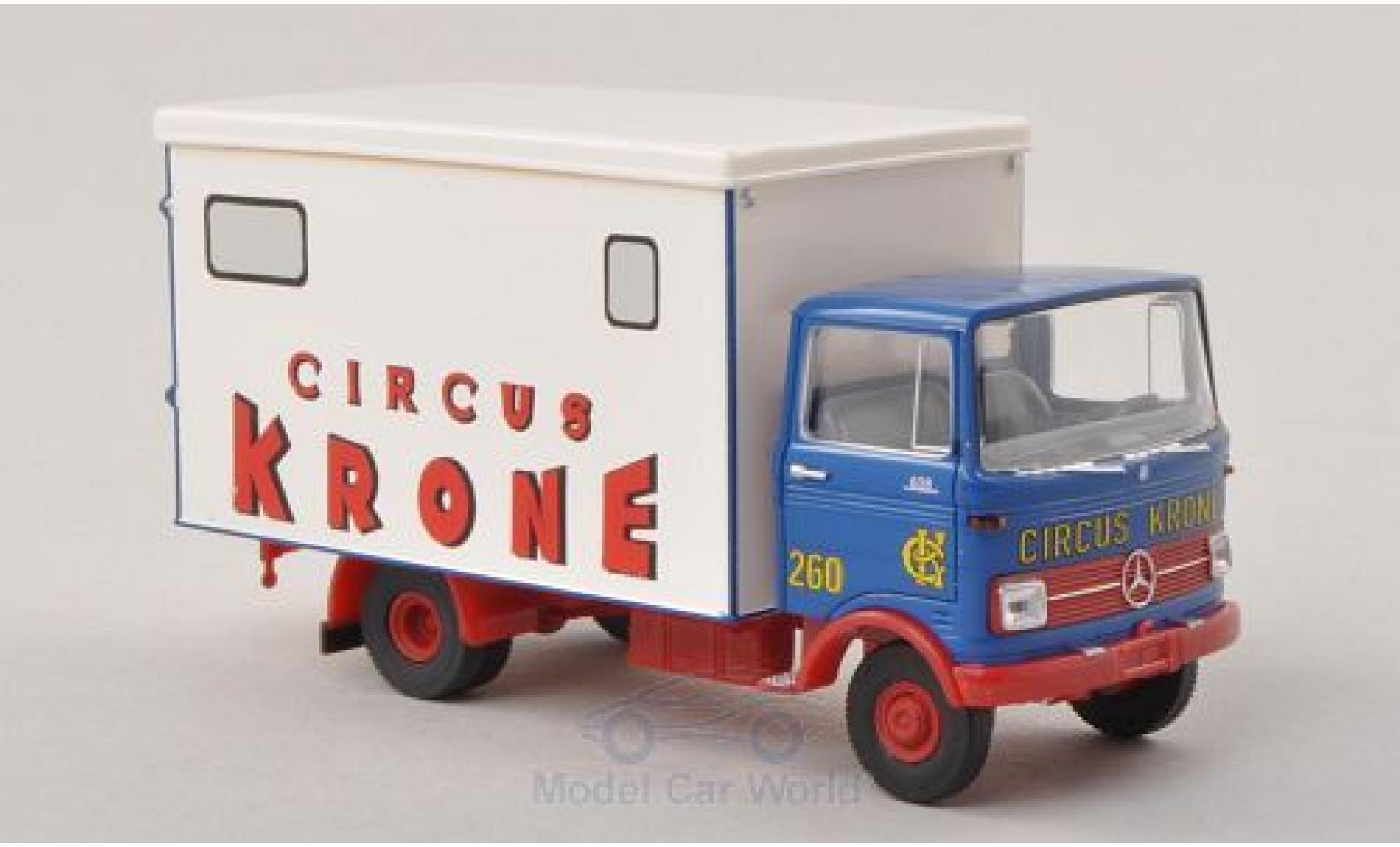 Mercedes LP 608 1/87 Brekina bleue/blanche Circus Krone