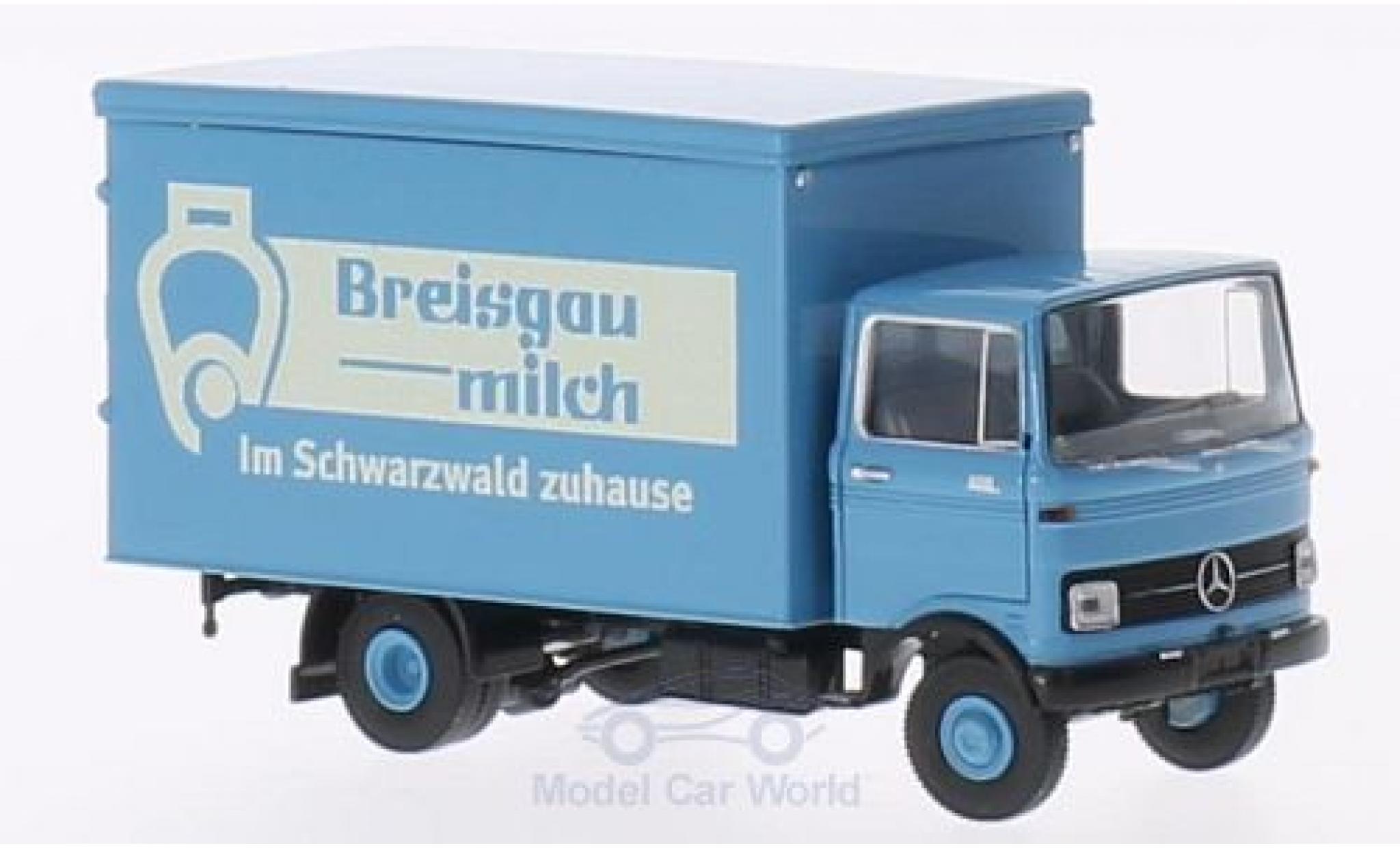 Mercedes LP 608 1/87 Brekina Koffer Breisgau Milch