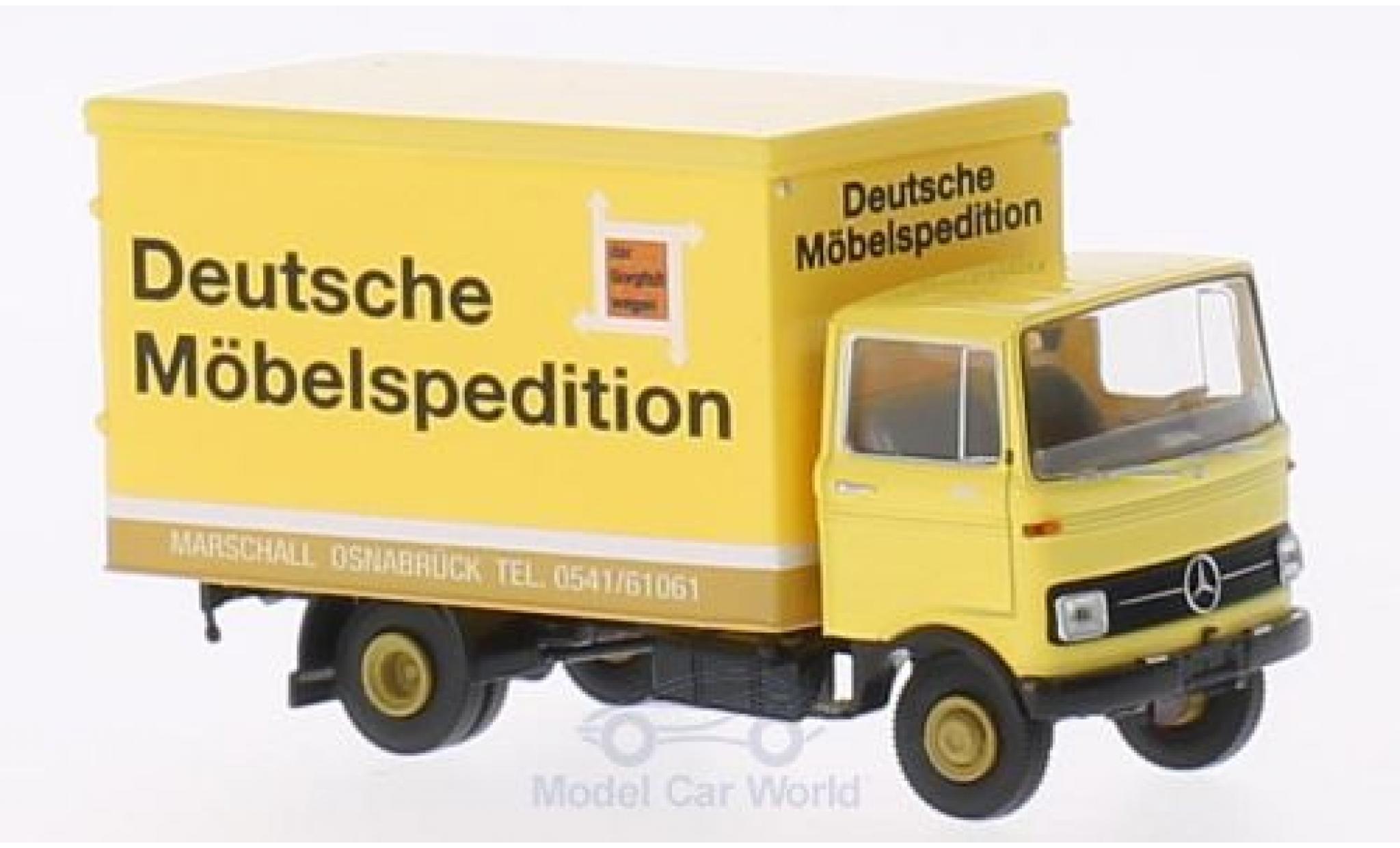 Mercedes LP 608 1/87 Brekina Koffer DMS/Marschall