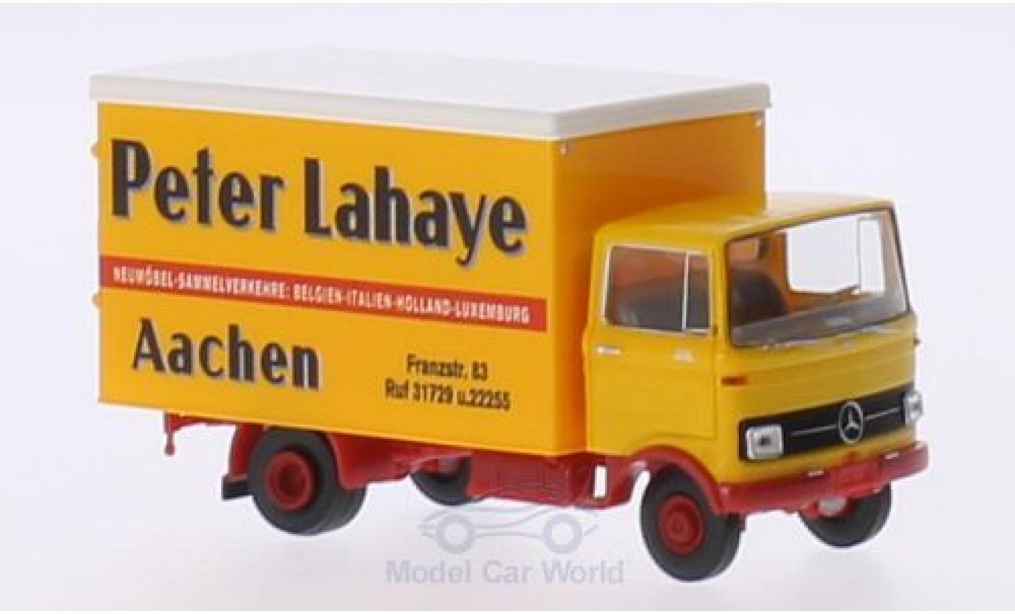 Mercedes LP 608 1/87 Brekina Koffer Peter Lahaye Aachen