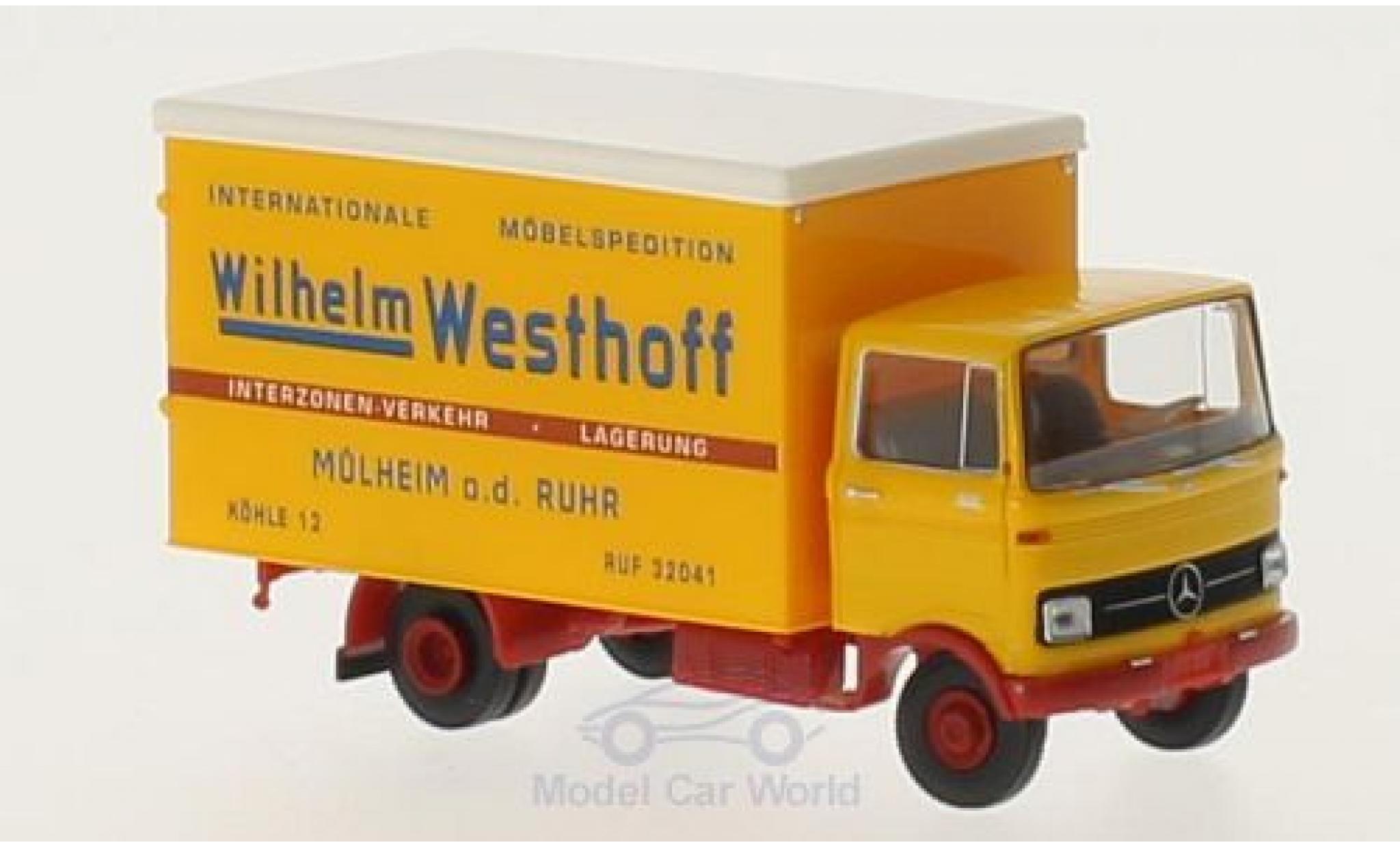 Mercedes LP 608 1/87 Brekina Wilhelm Westhoff Koffer