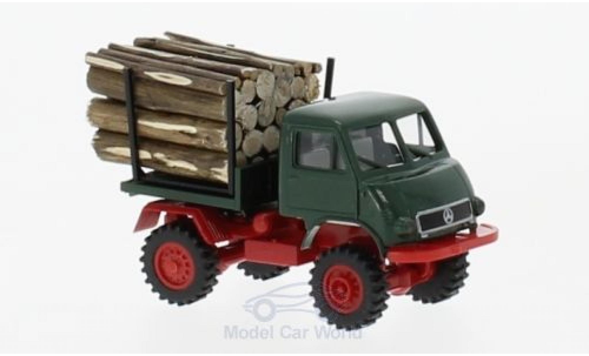 Mercedes Unimog 1/87 Brekina 402 mit Holzladung