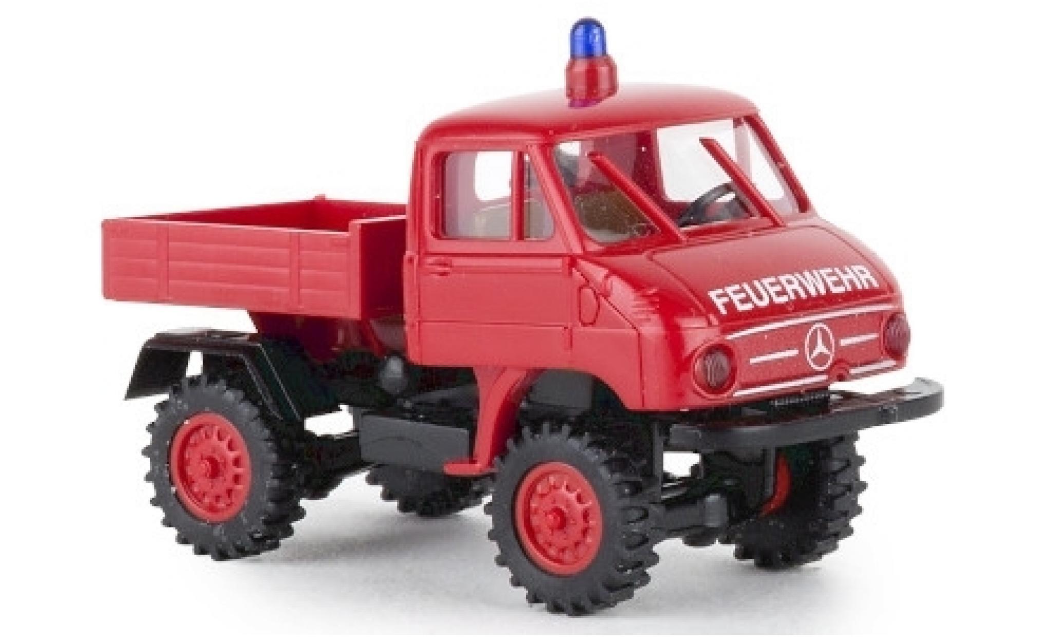 Mercedes Unimog 1/87 Brekina 411 Feuerwehr 1957 Pritsche