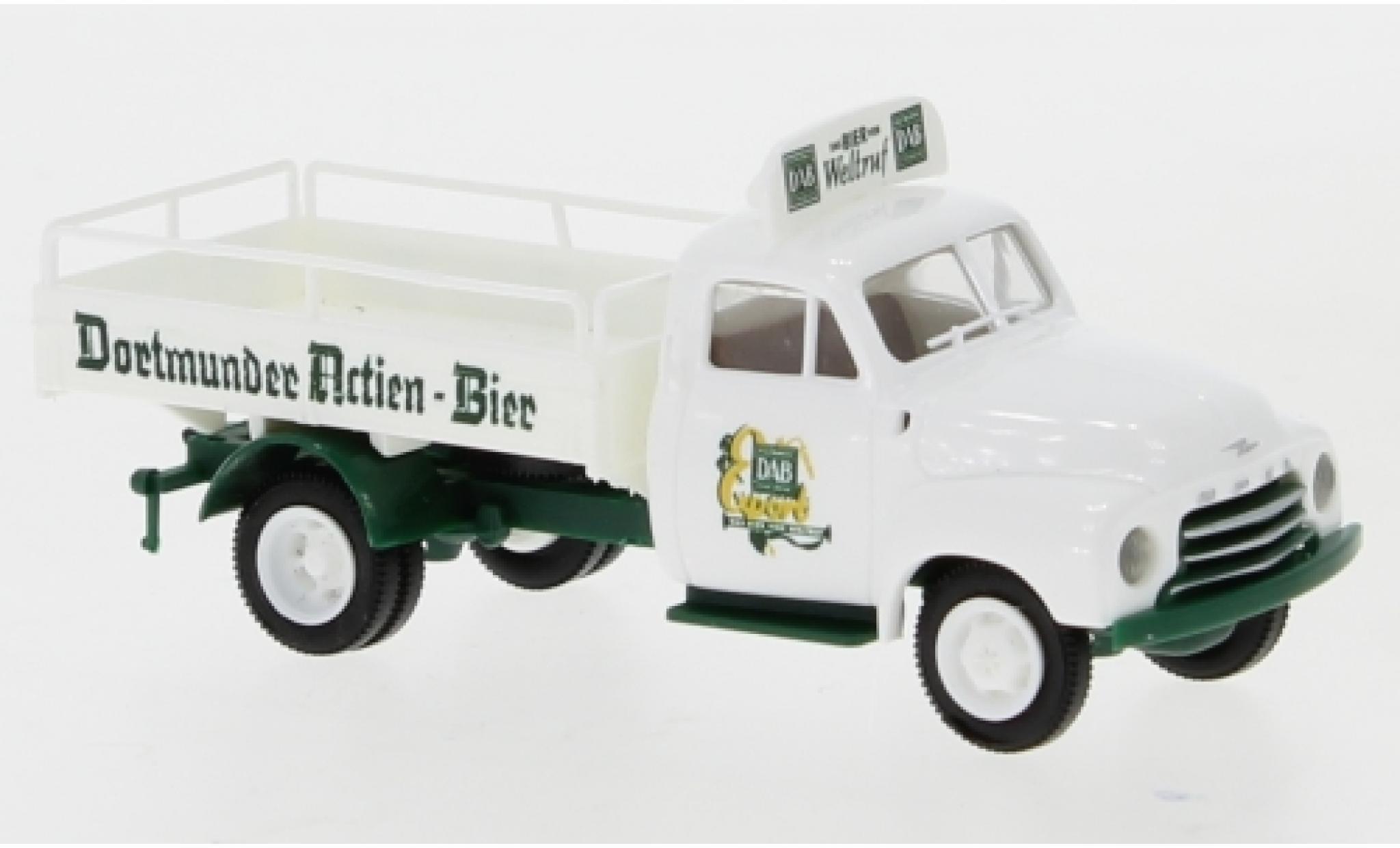 Opel Blitz 1/87 Brekina Bierpritsche Dortmunder Actien-Bier 1952