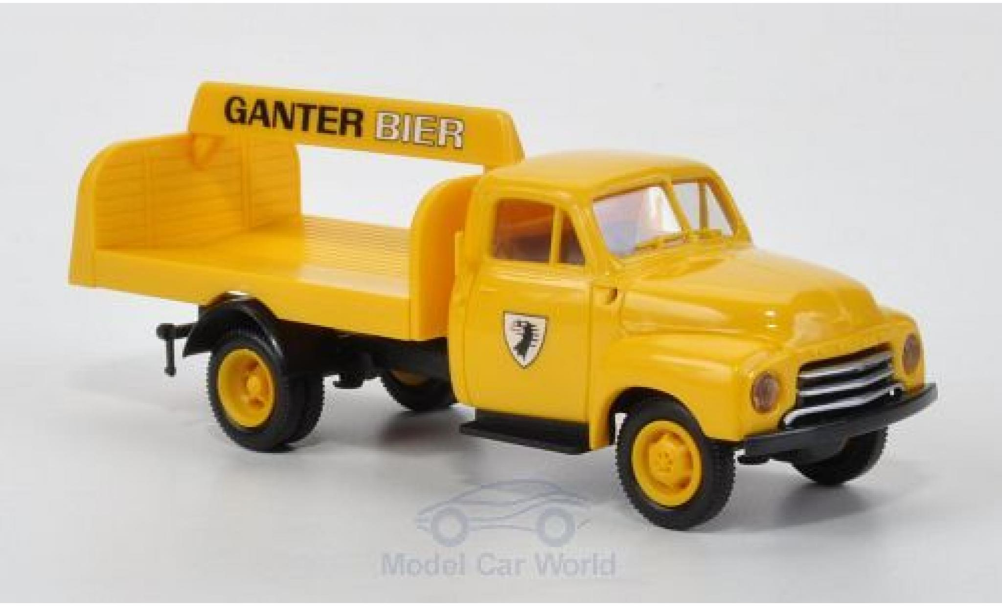Opel Blitz 1/87 Brekina Getränkepritsche Ganter Bier