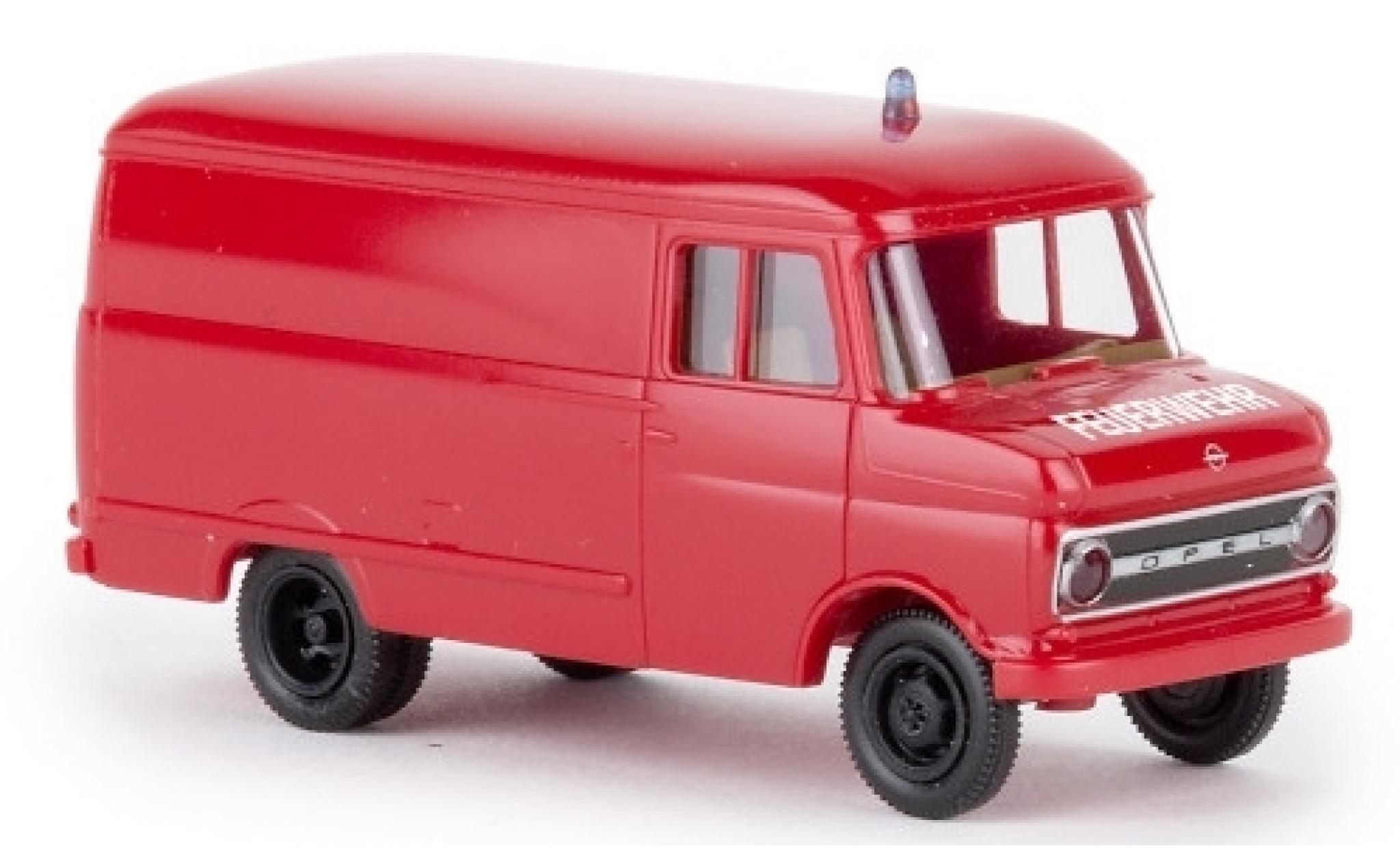 Opel Blitz 1/87 Brekina Kasten B Feuerwehr 1966