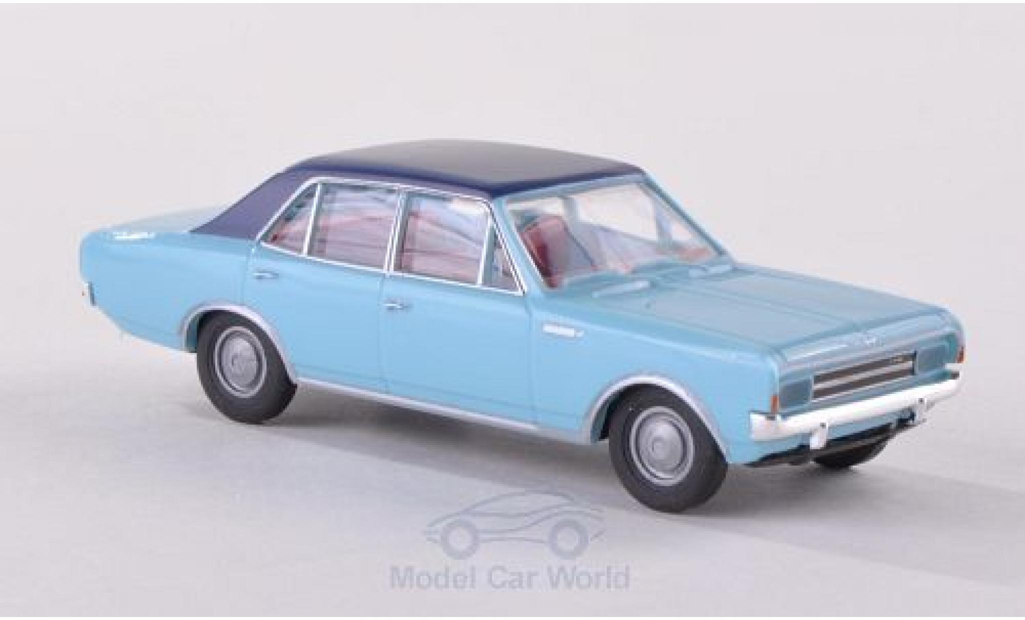 Opel Rekord 1/87 Brekina C bleue/bleue