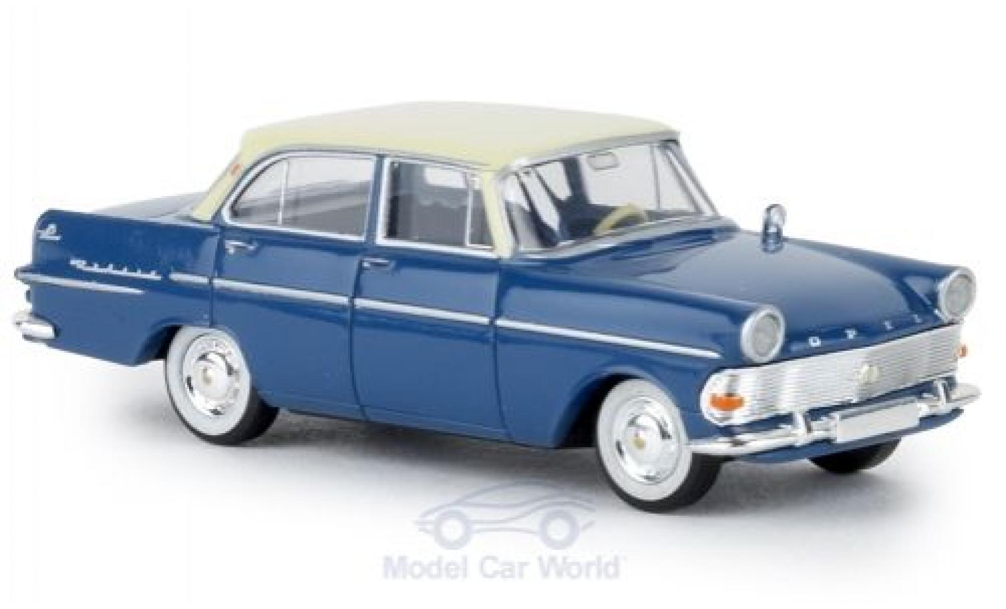 Opel Rekord 1/87 Brekina P2 bleue/beige TD