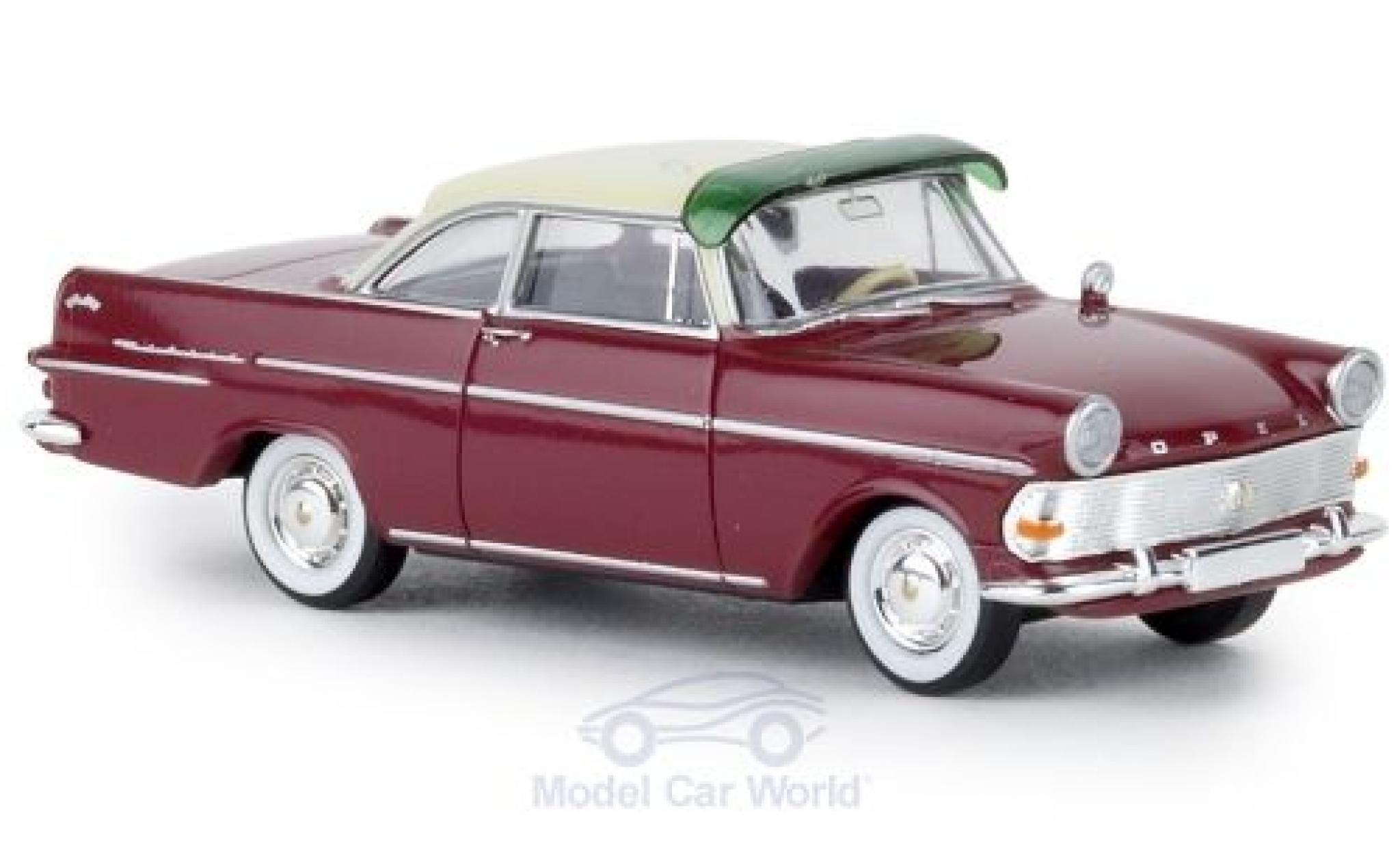 Opel Rekord 1/87 Brekina P2 Coupe rouge/beige TD