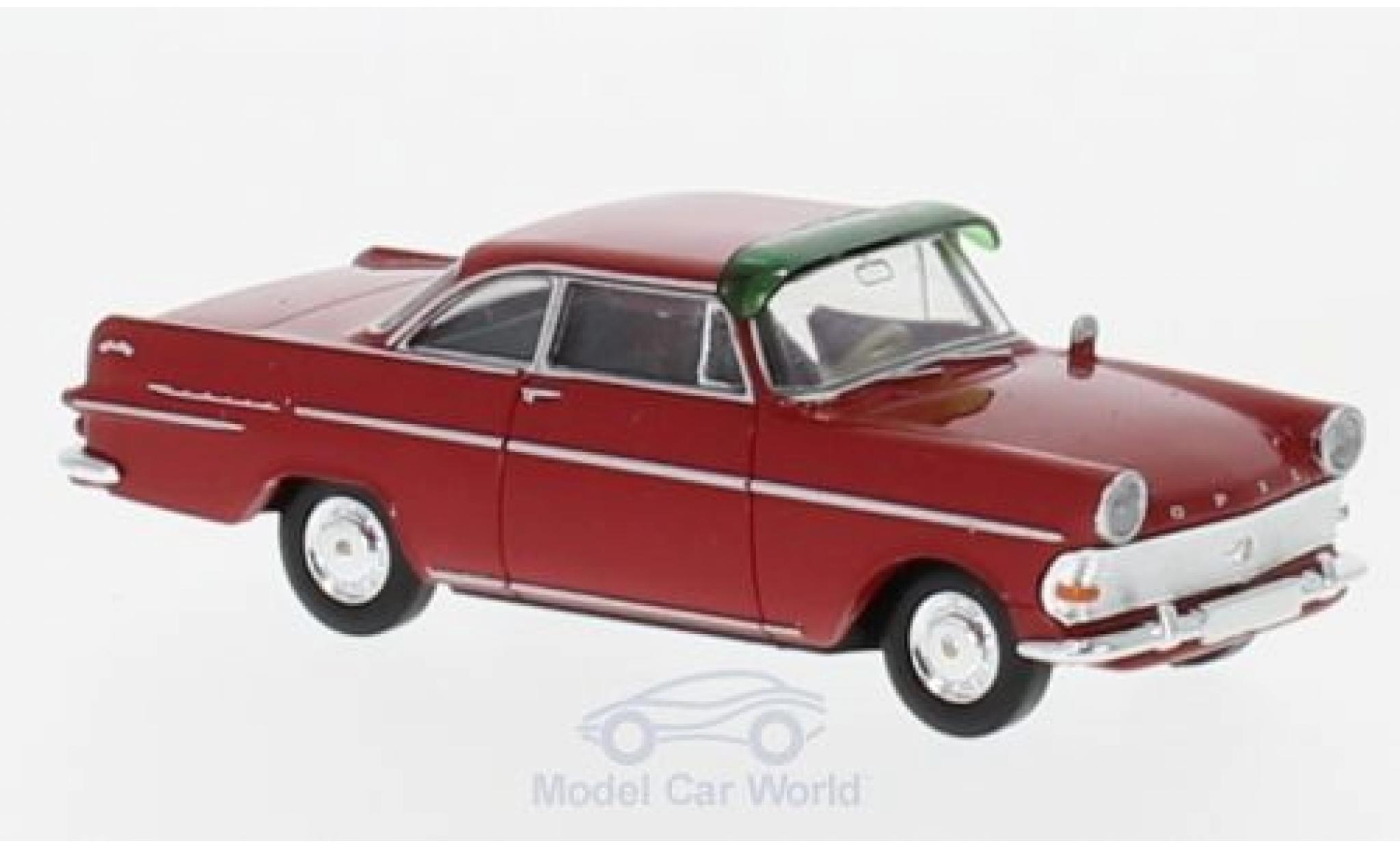 Opel Rekord 1/87 Brekina P2 Coupe rouge mit Sonnenblende