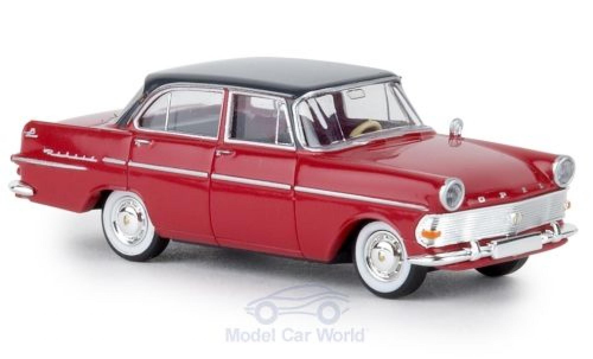 Opel Rekord 1/87 Brekina P2 rouge/grise TD