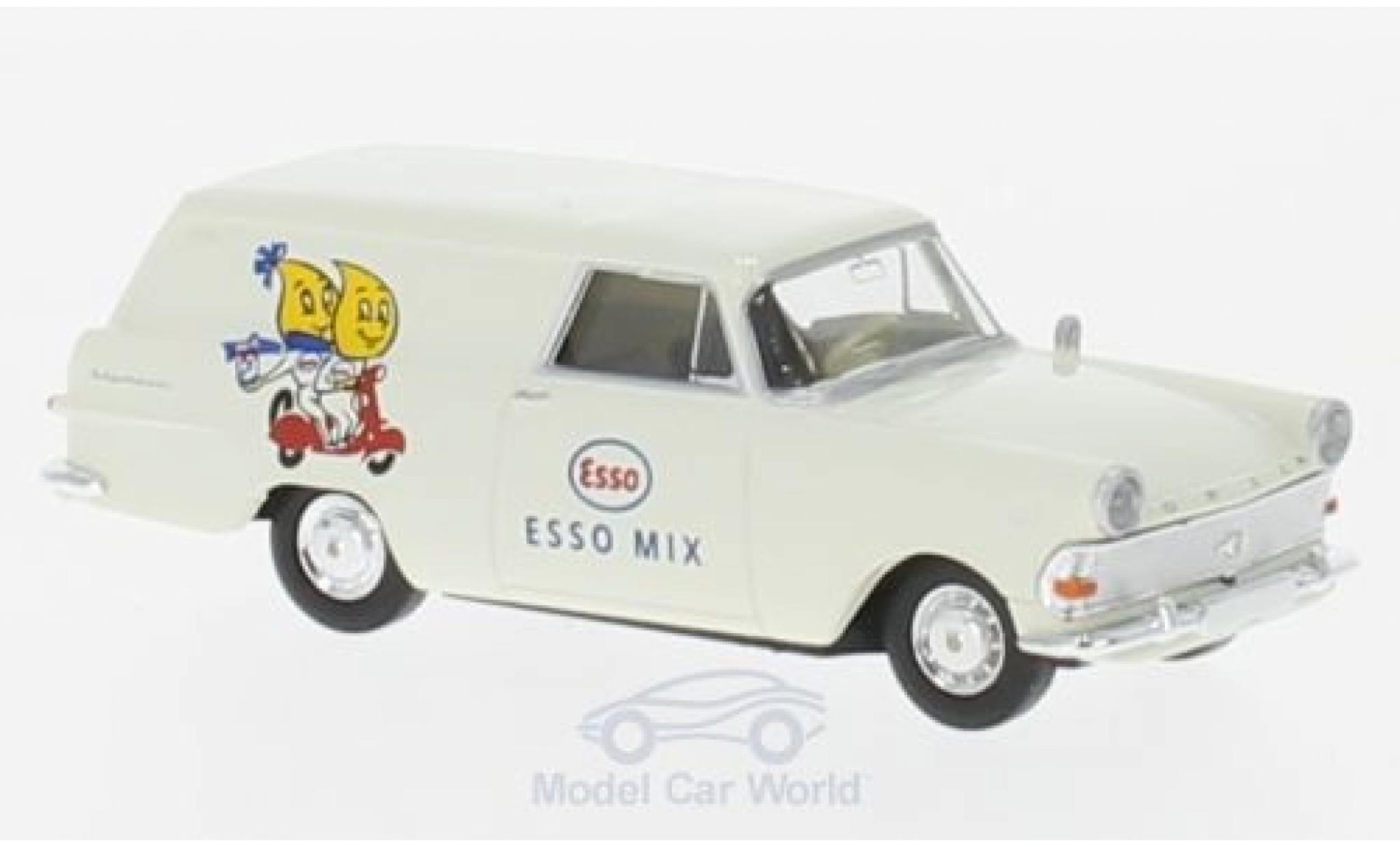 Opel Rekord 1/87 Brekina P2 Van Esso-2T-Mix