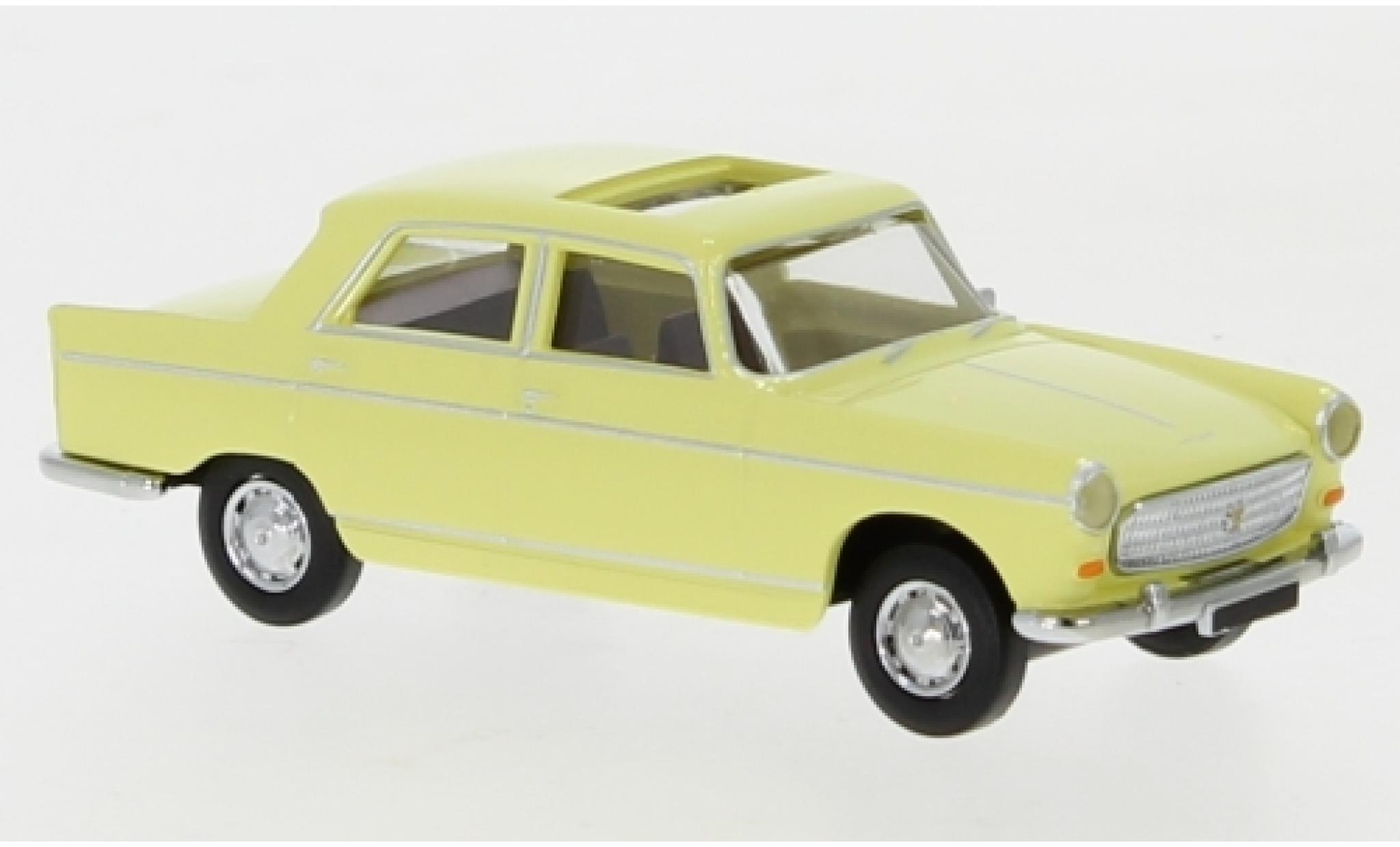 Peugeot 404 1/87 Brekina yellow 1961 toit ouvrant ouvert