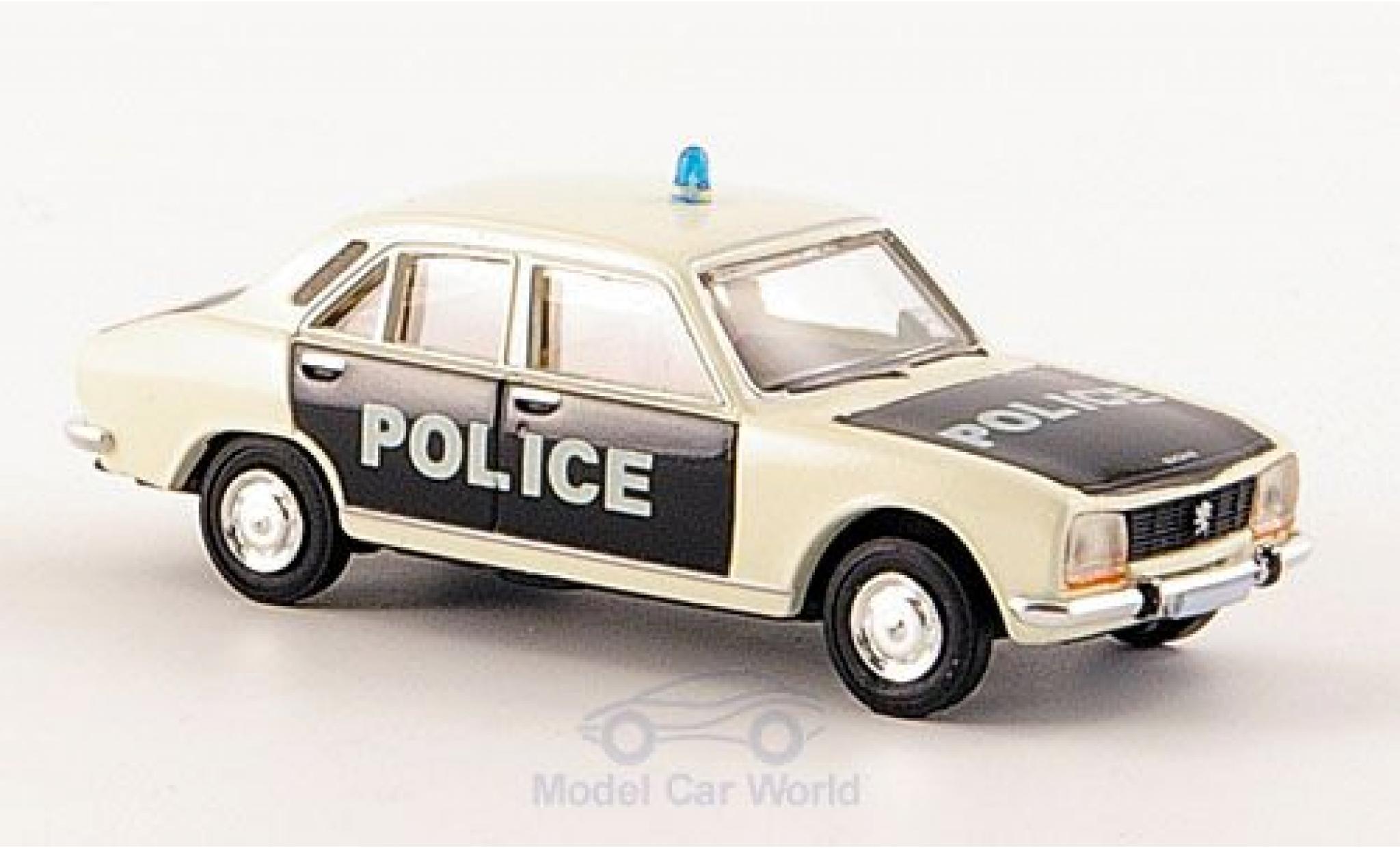 Peugeot 504 1/87 Brekina Limousine Police Polizei (F)