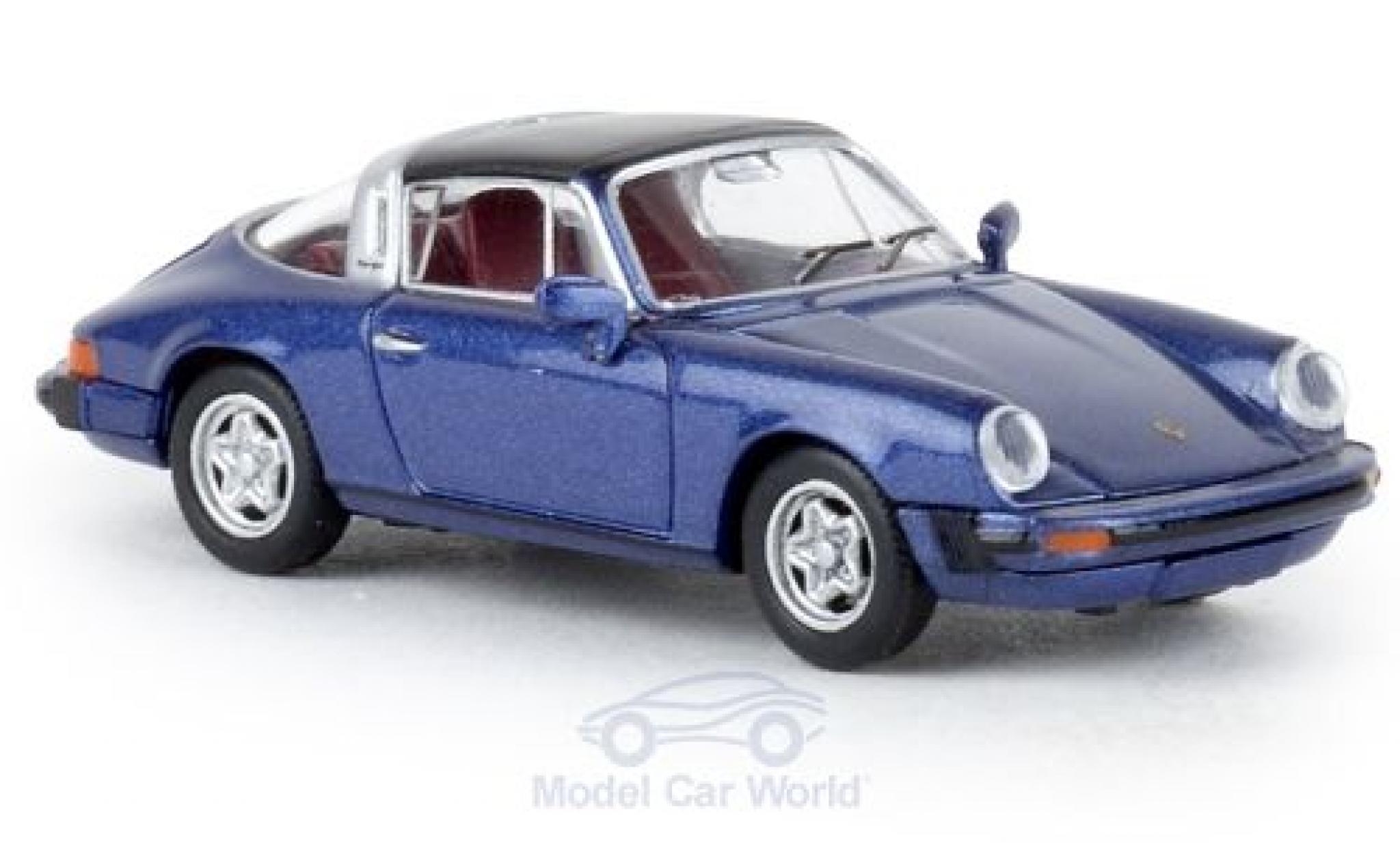 Porsche 930 Targa 1/87 Brekina 911 G metallise bleue 1976 TD