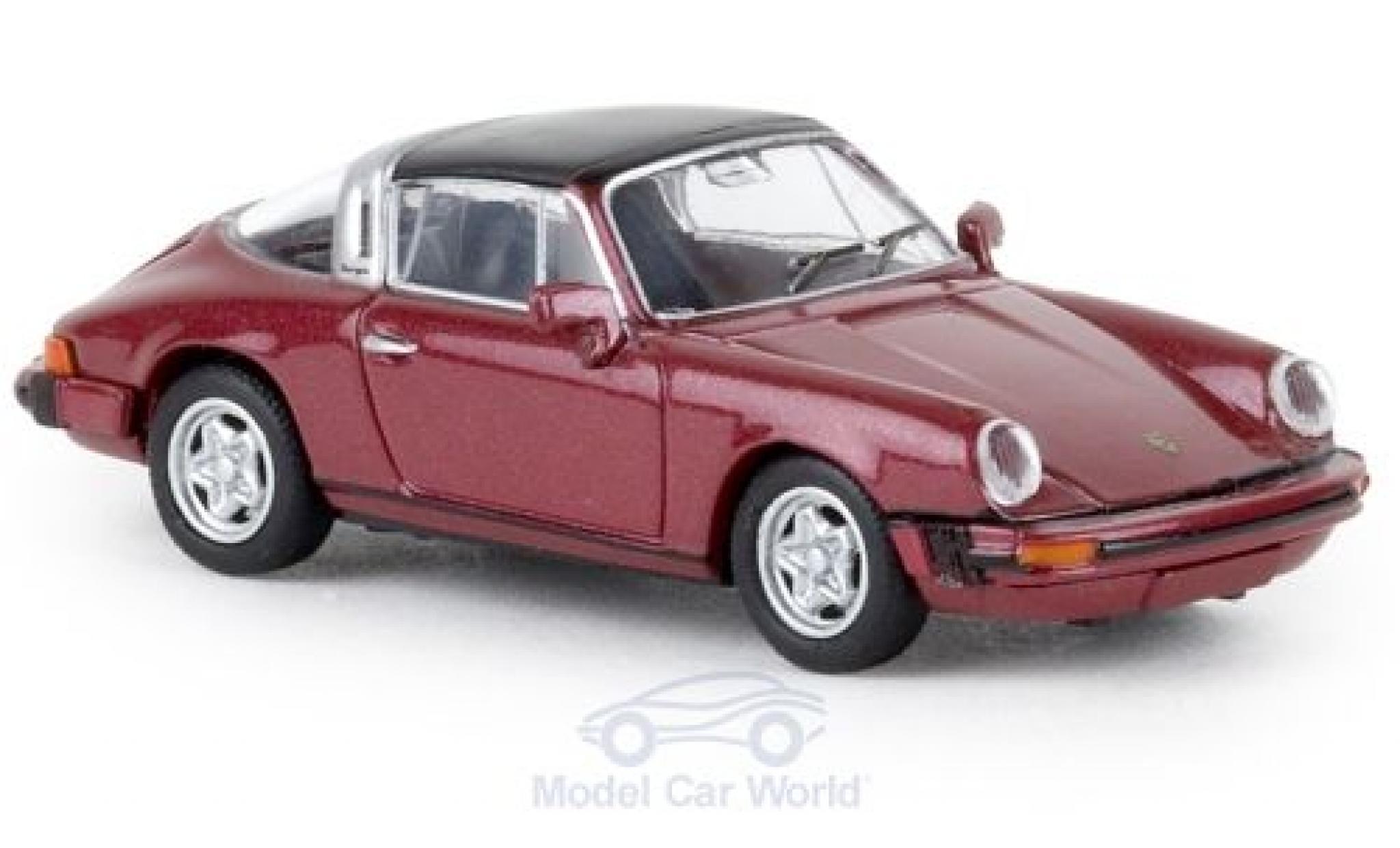 Porsche 911 1/87 Brekina G Targa métallisé rouge 1976 TD