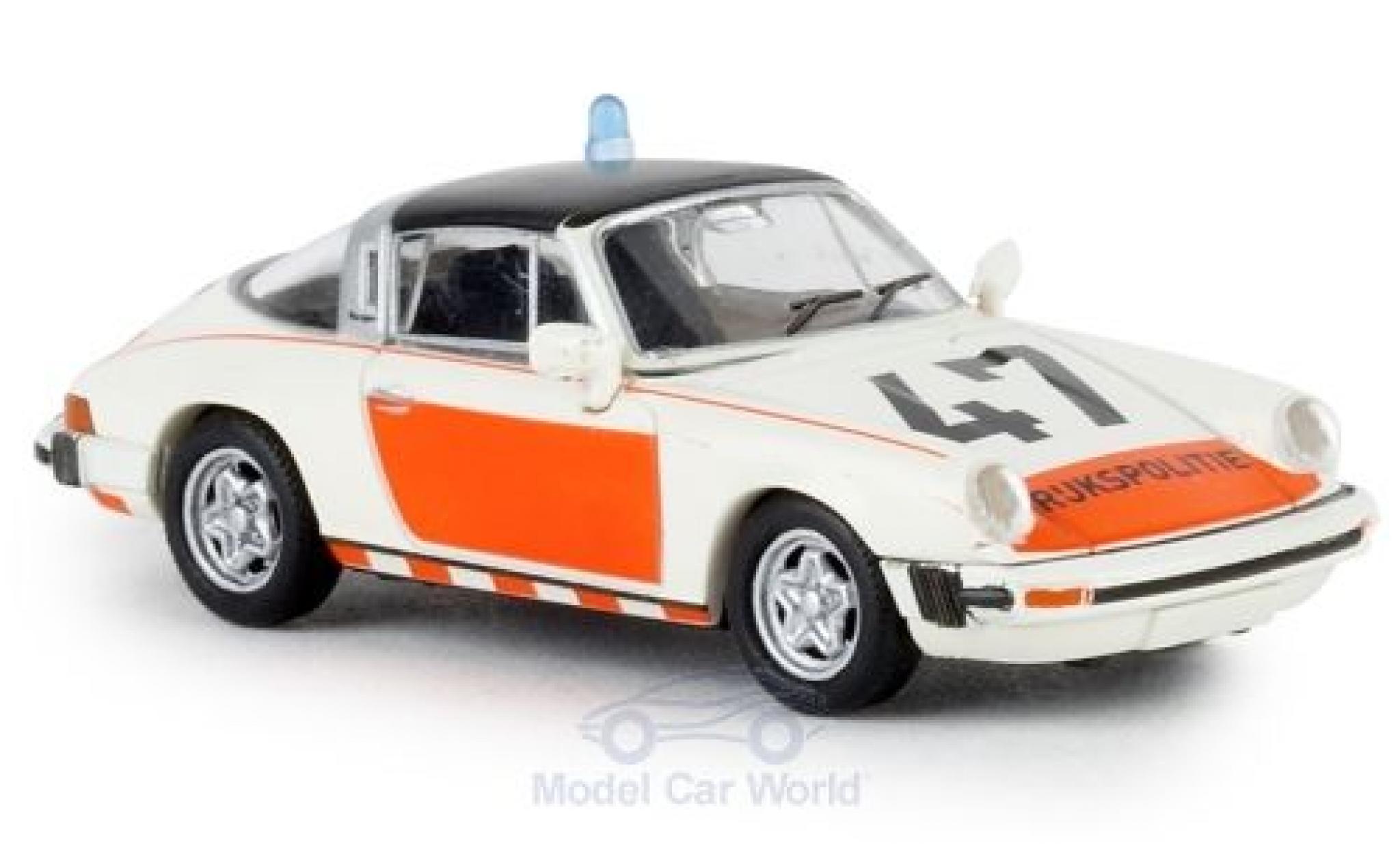 Porsche 930 Targa 1/87 Brekina 911 G Rijkspolitie 47 1976 TD