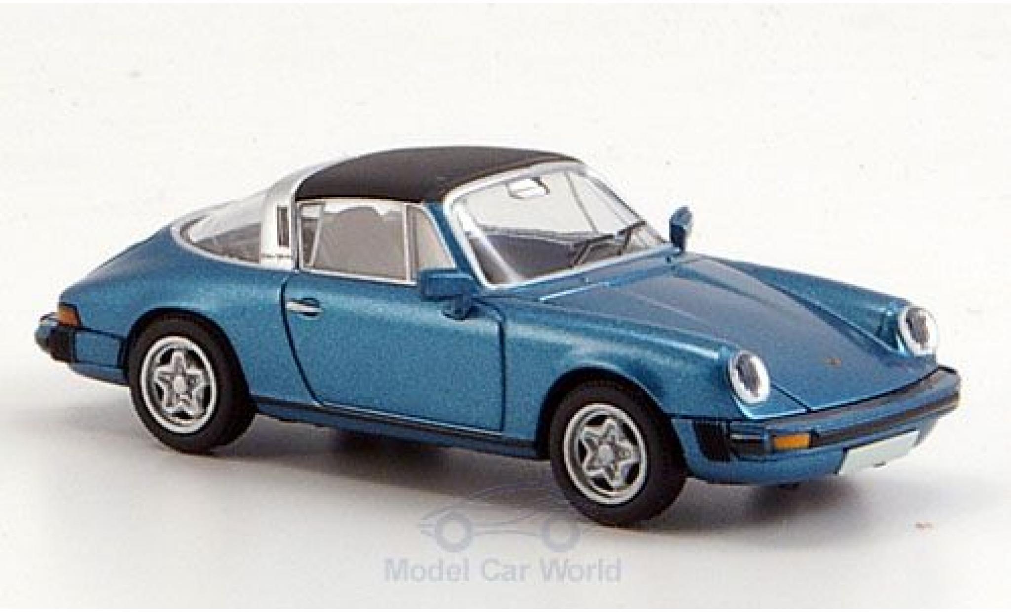 Porsche 911 1/87 Brekina Targa (G-Modell) métallisé bleue Dach abnehmbar