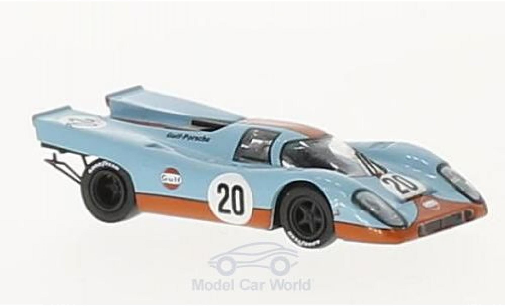 Porsche 917 K 1/87 Brekina K No.20 Gulf Team John Wyer Gulf 24h Le Mans 1970 J.Siffert/B.Redman