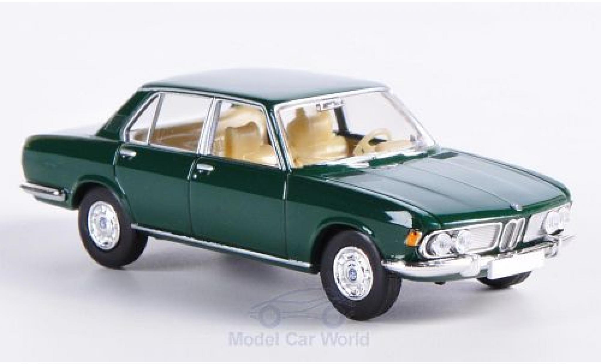 Bmw 2500 1/87 Brekina Starmada BMW dunkelgrün