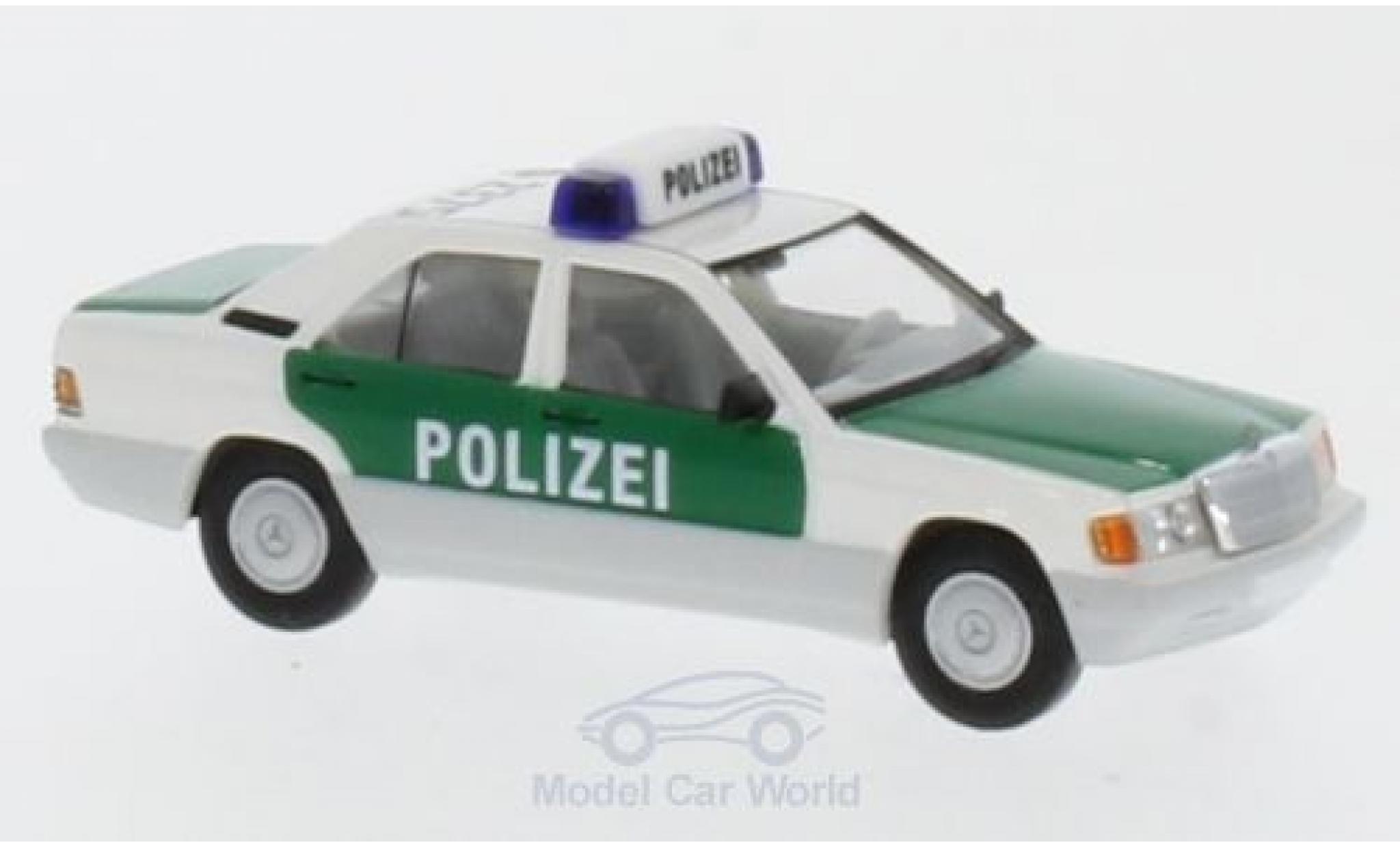 Mercedes 190 E 1/87 Brekina Starmada E Polizei Stuttgart mit Dachkennung S-2375