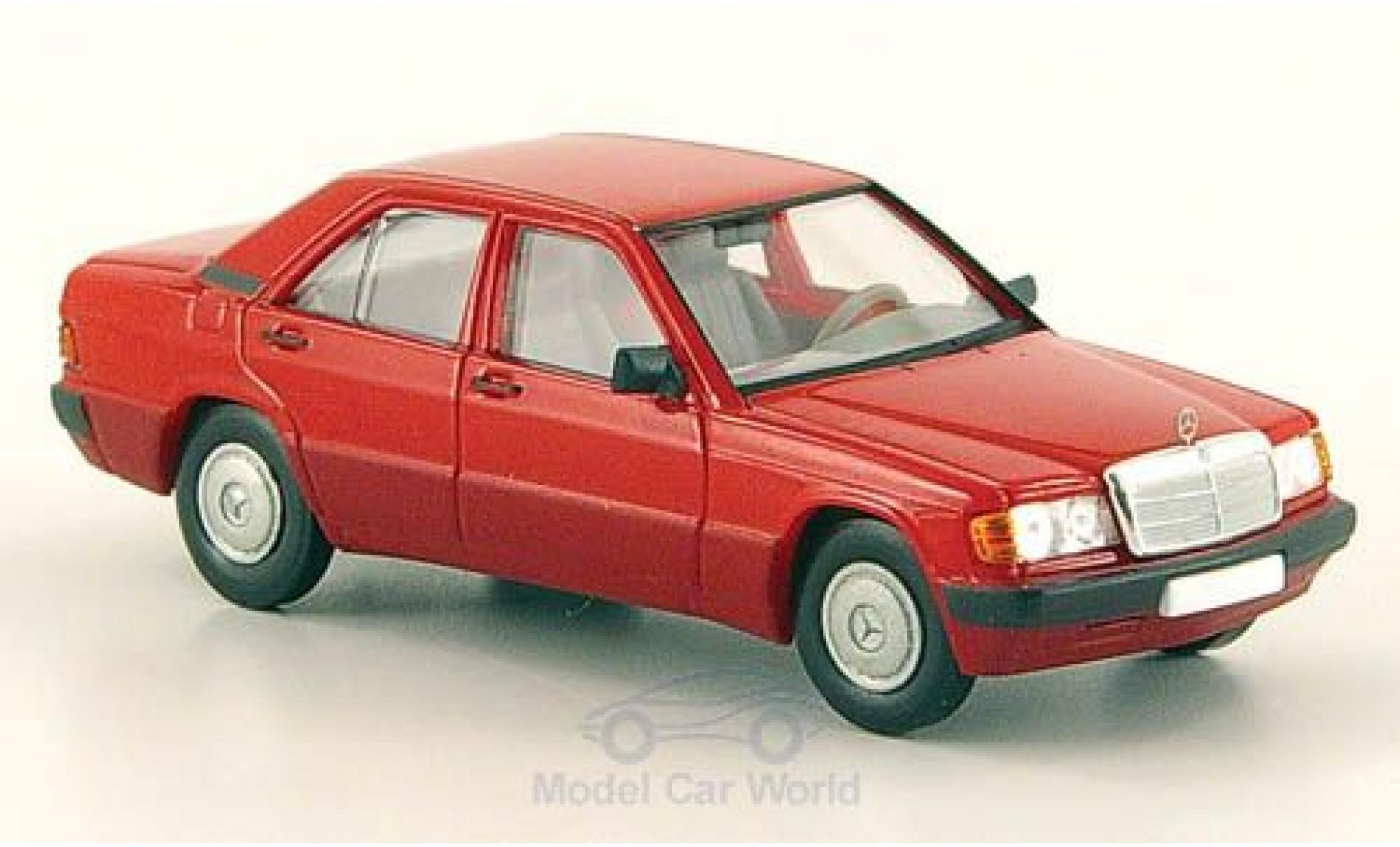 Mercedes 190 E 1/87 Brekina (W201) rouge 1988