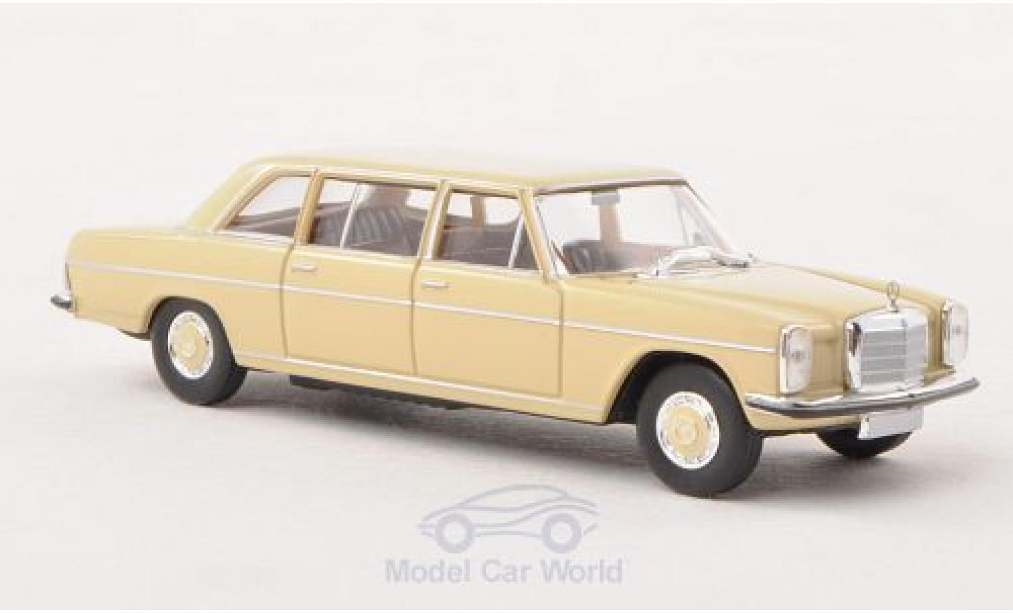 Mercedes 220 1/87 Brekina D lang (W115) beige Strich-Acht