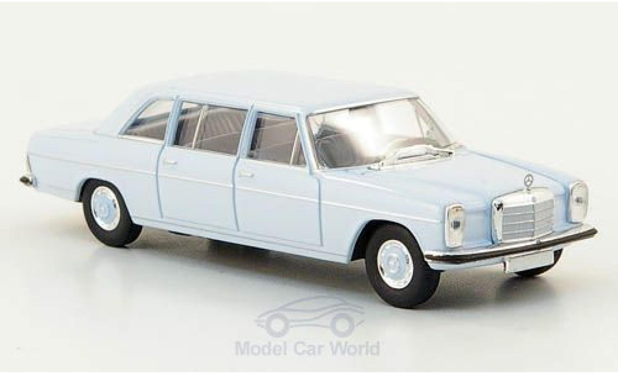 Mercedes 220 1/87 Brekina Starmada D lang (W115) hellbleue