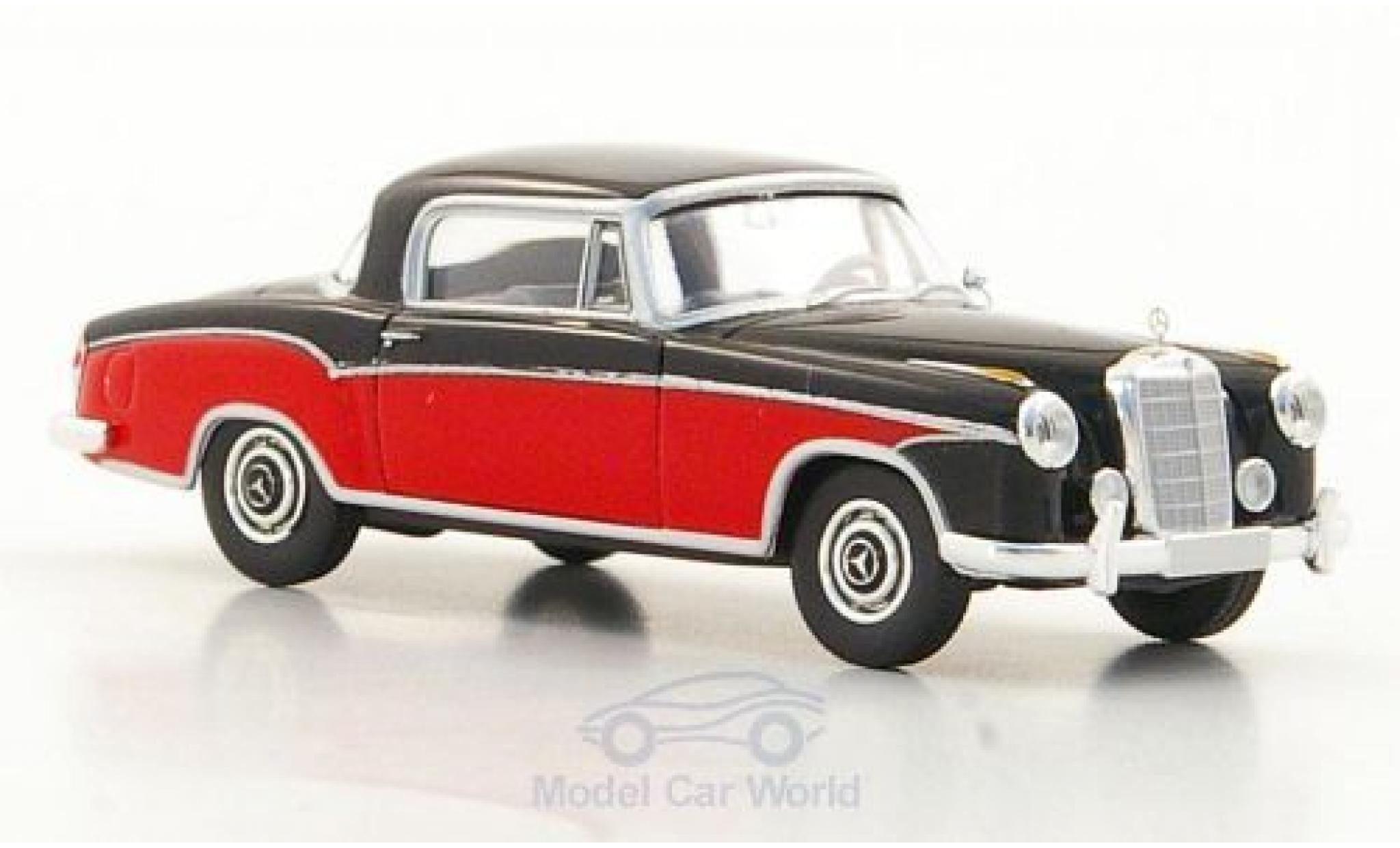 Mercedes 220 1/87 Brekina Starmada S Coupe (W180 II) noire/rouge